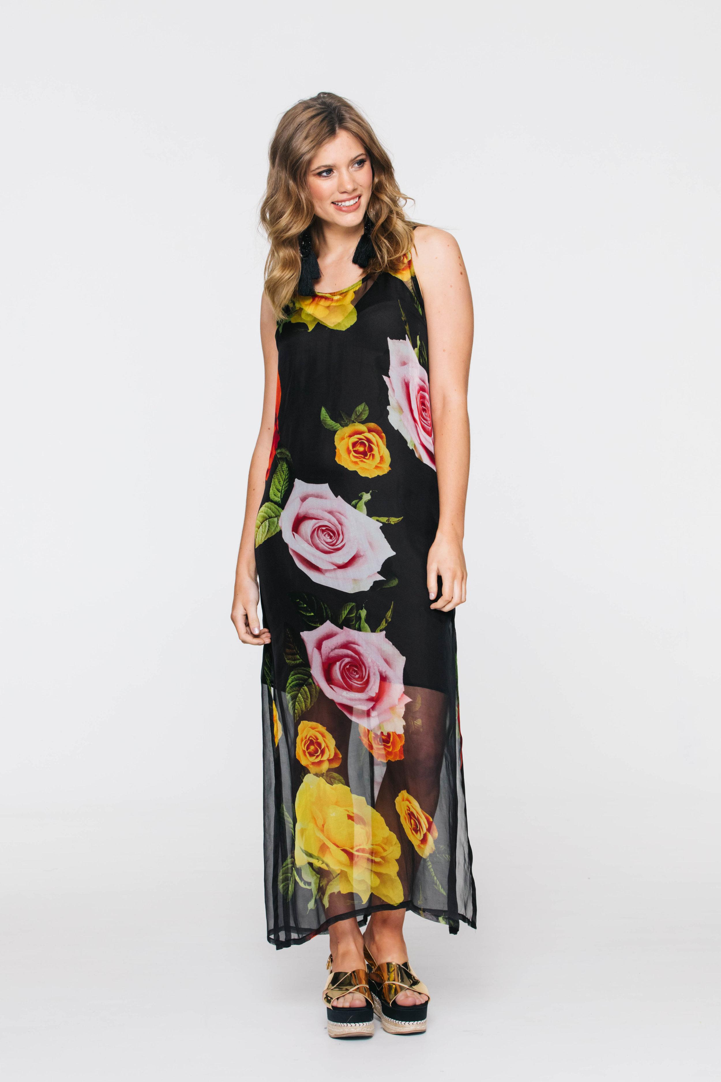 6021VA Sunset Dress, Giant Roses