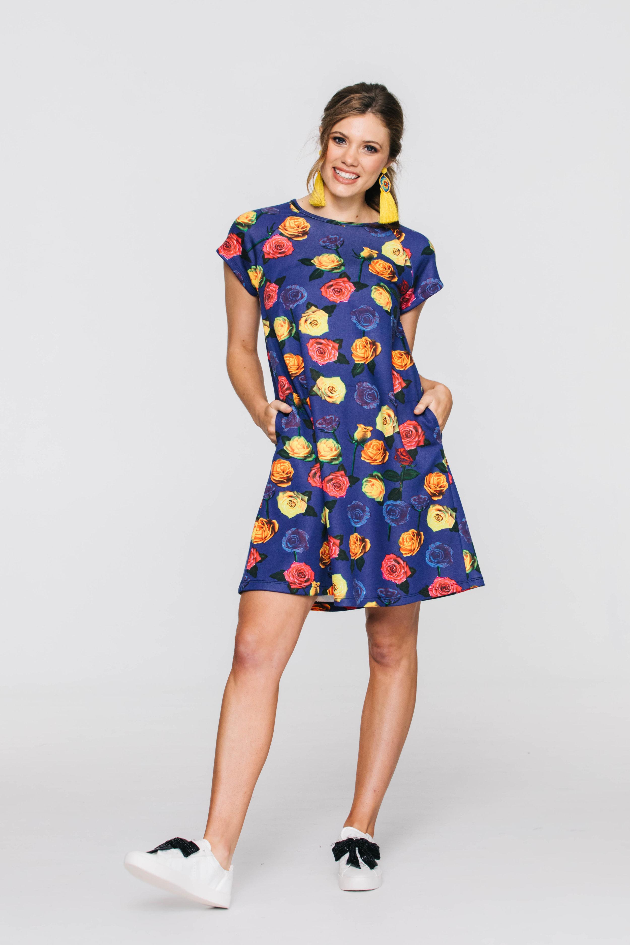 6032V Sweat Dress, Sweaty Betty Blue