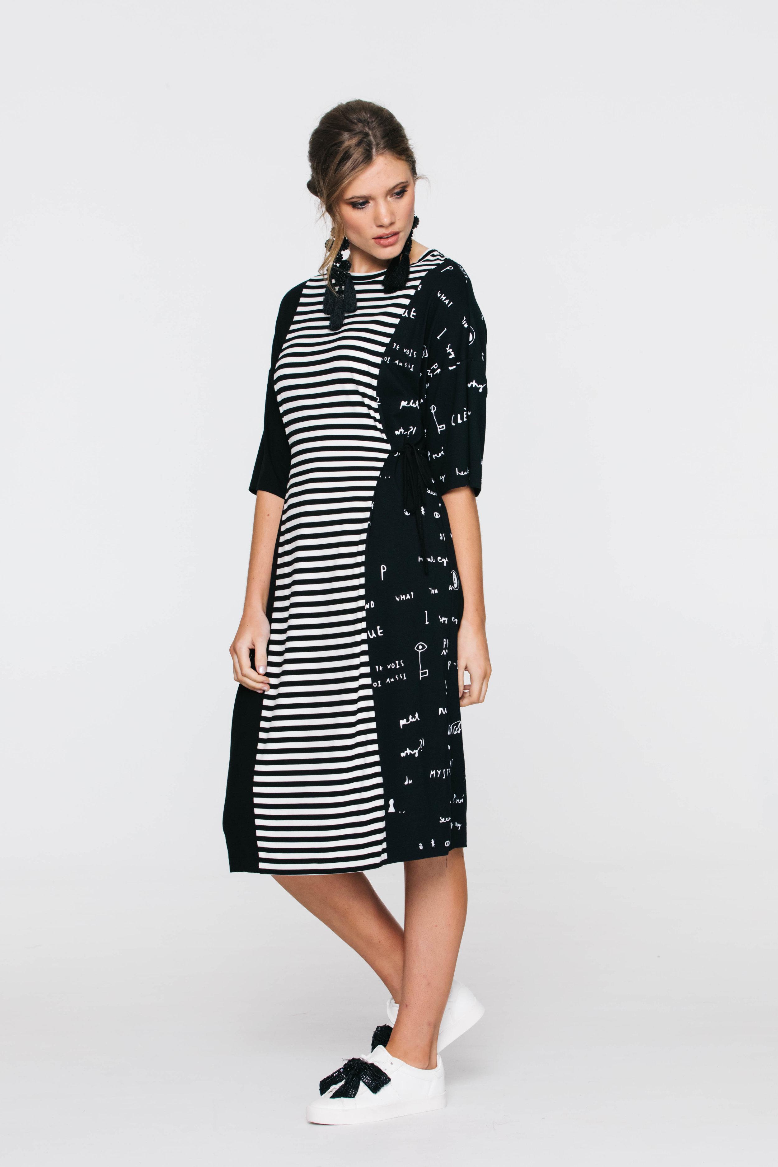 6242V Laguna Dress, Black Combo