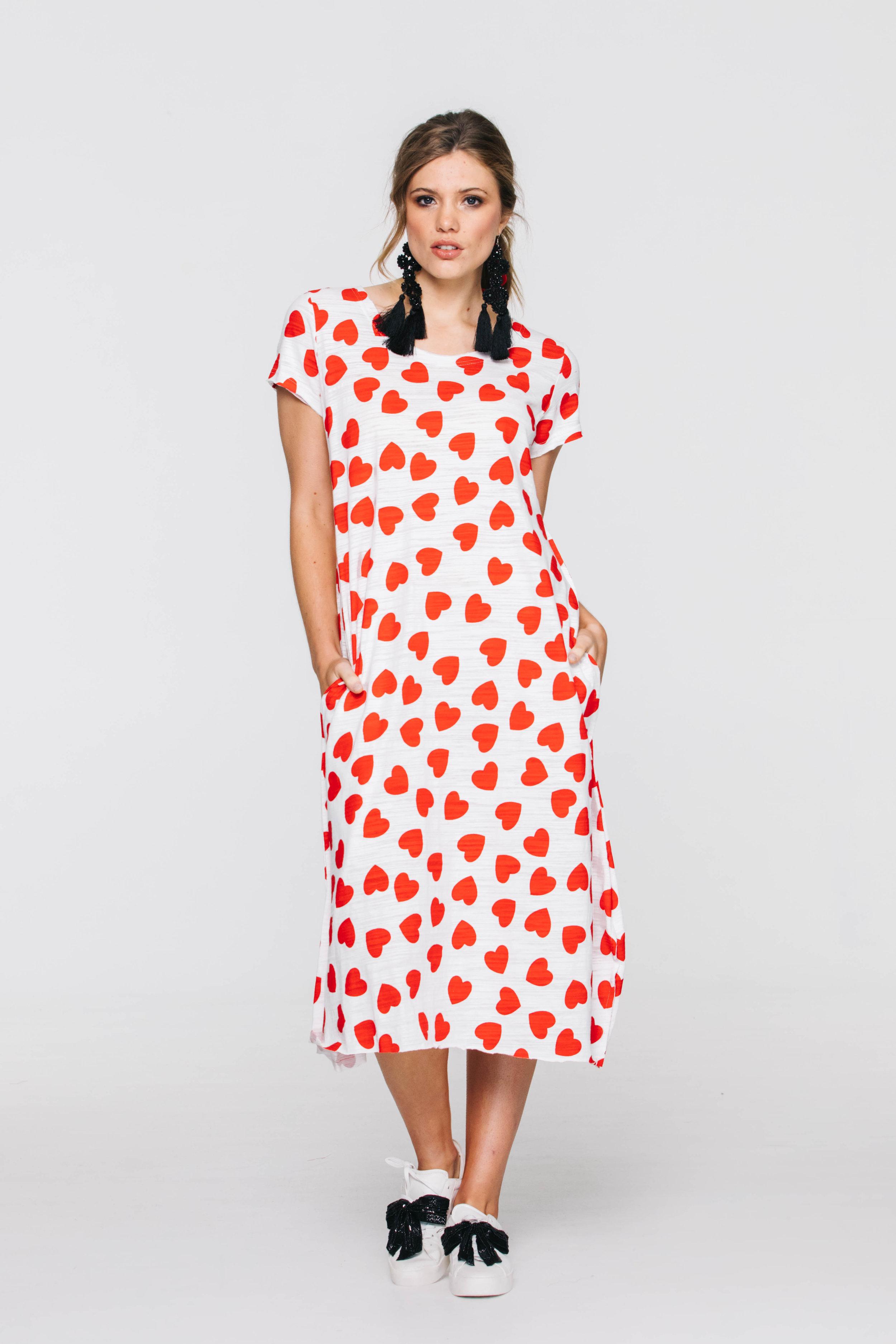 6266V Solace TShirt Dress, Love Hearts