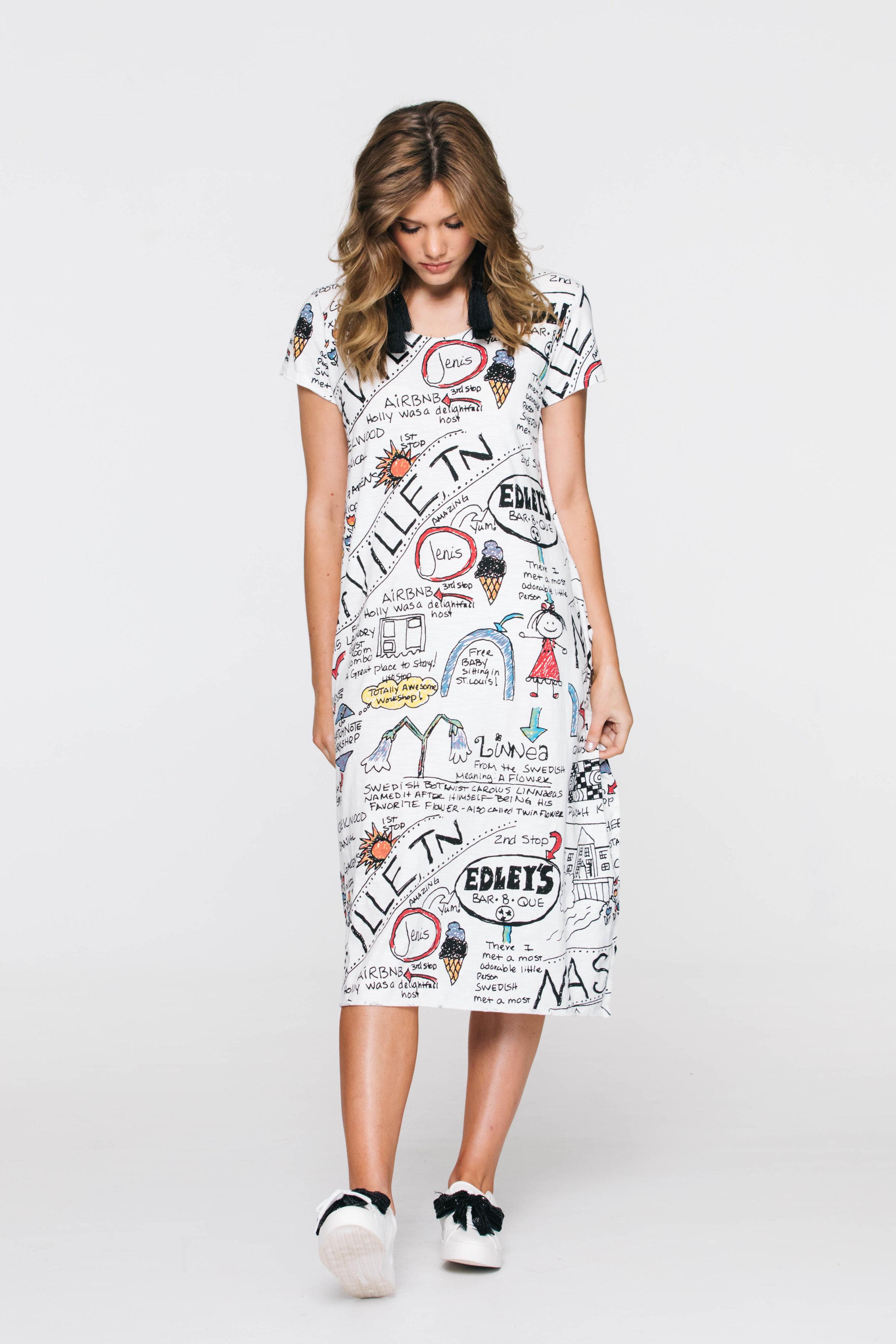 6266V Solace TShirt Dress, Nashville Ivory
