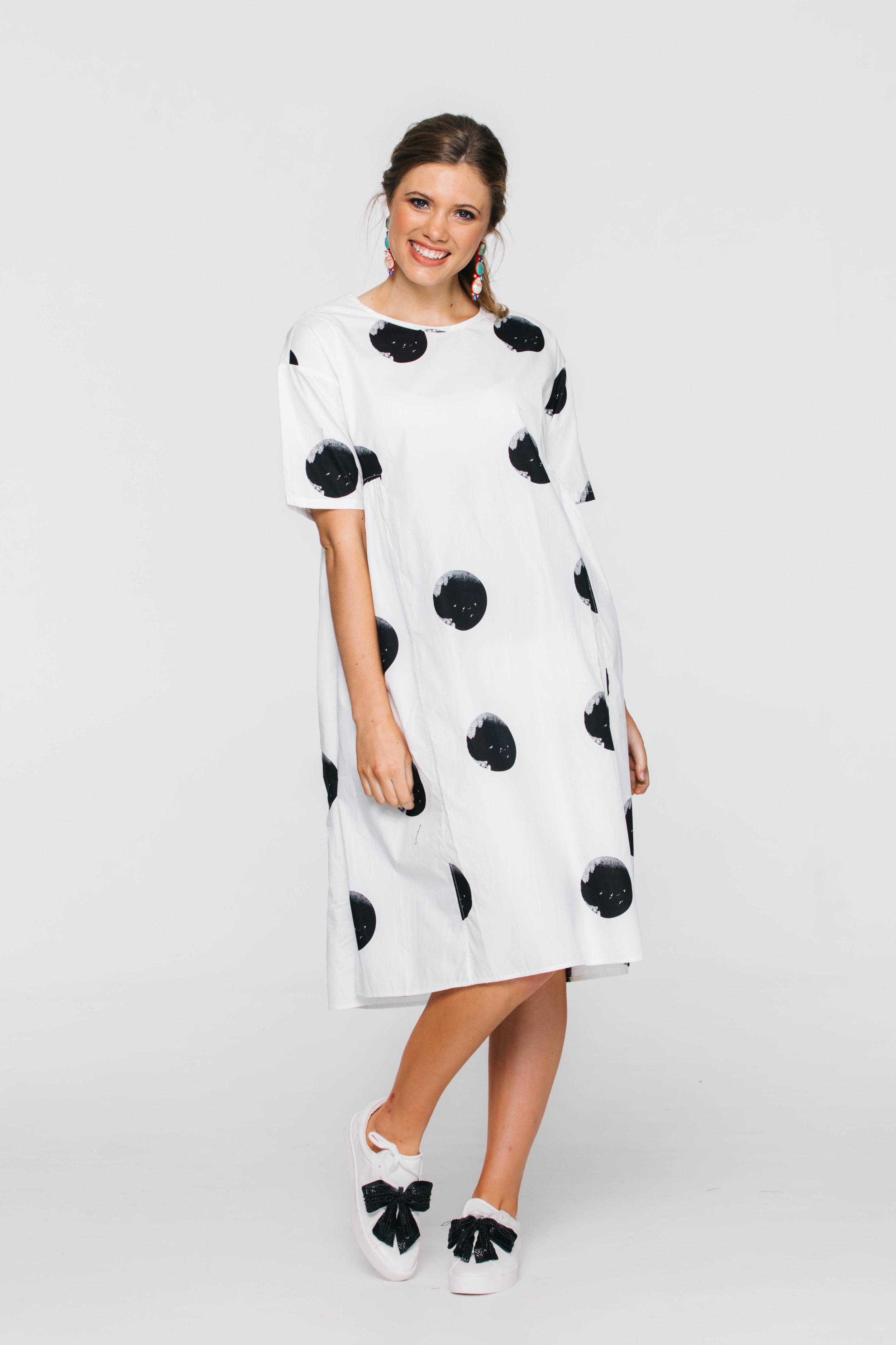 6321V Maddox Dress, Spot Black