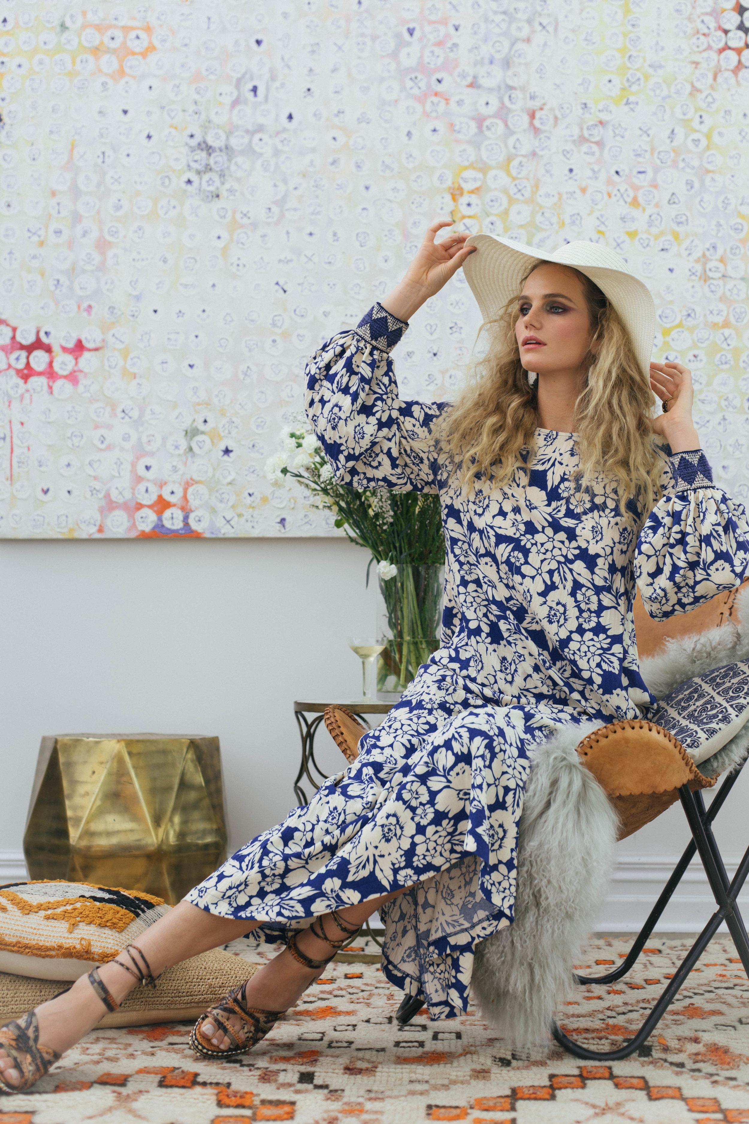 Botticelli Dress 6467N Jillian Blue