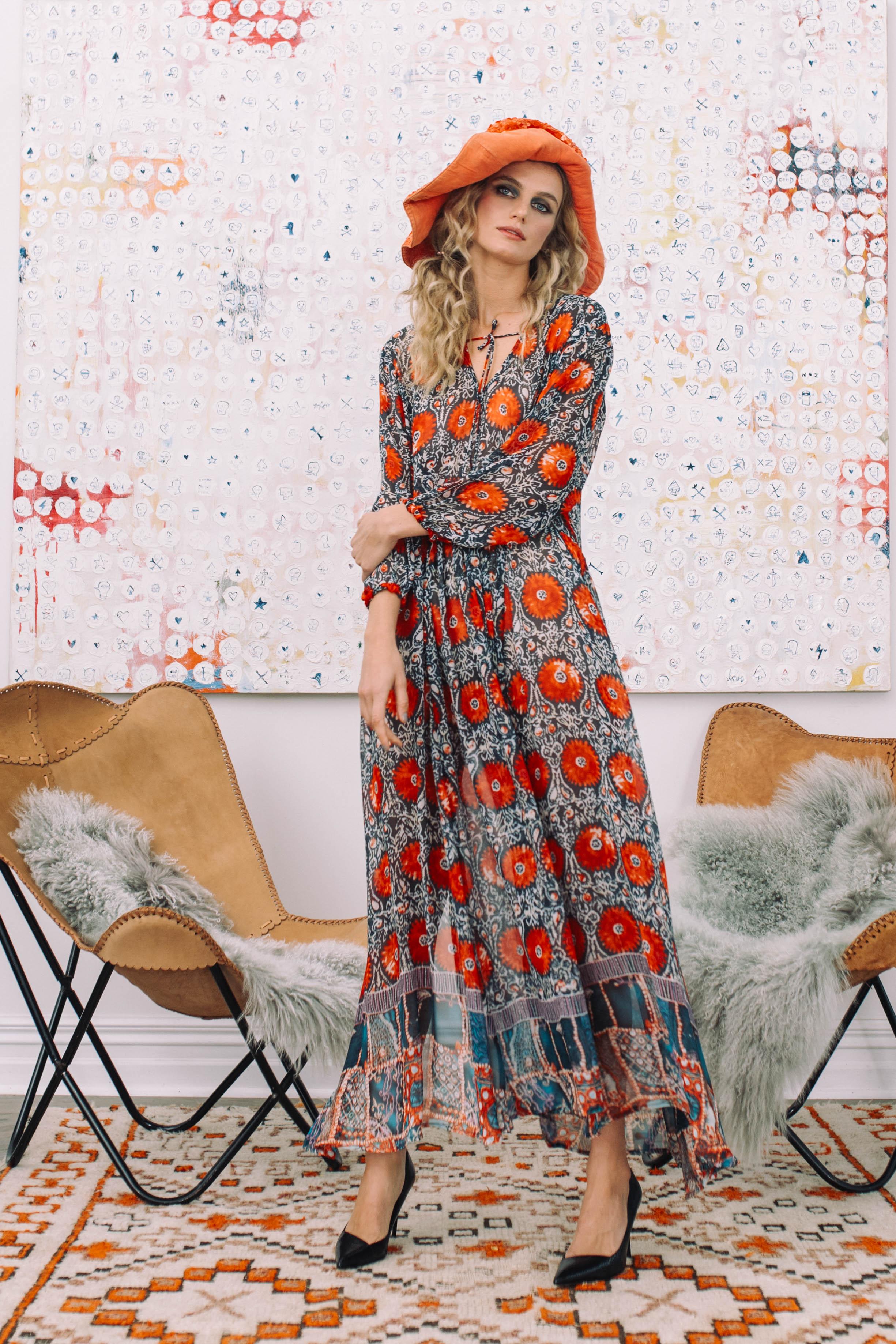Hazel Dress 6513N Boho