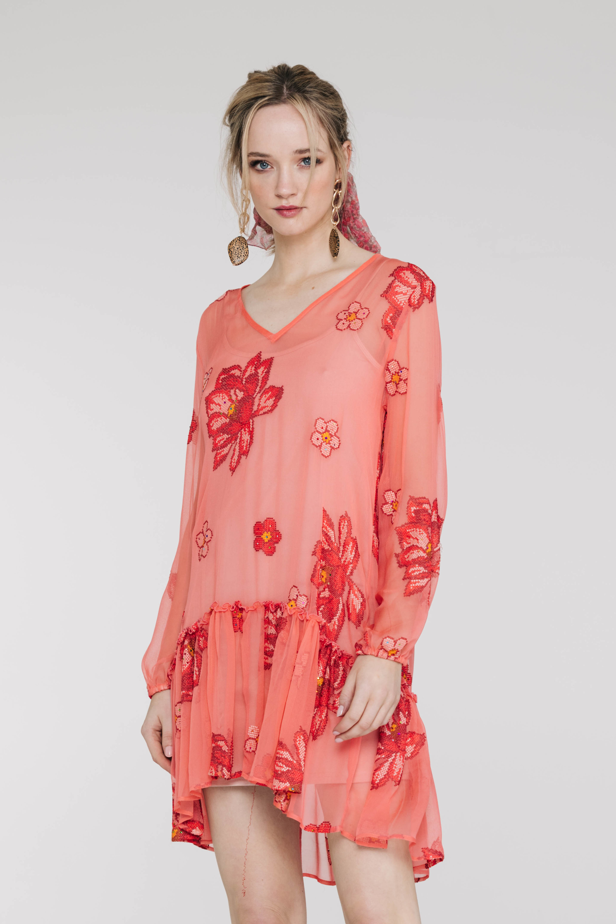 Ruff All Dress 6143P Starry Rose Coral