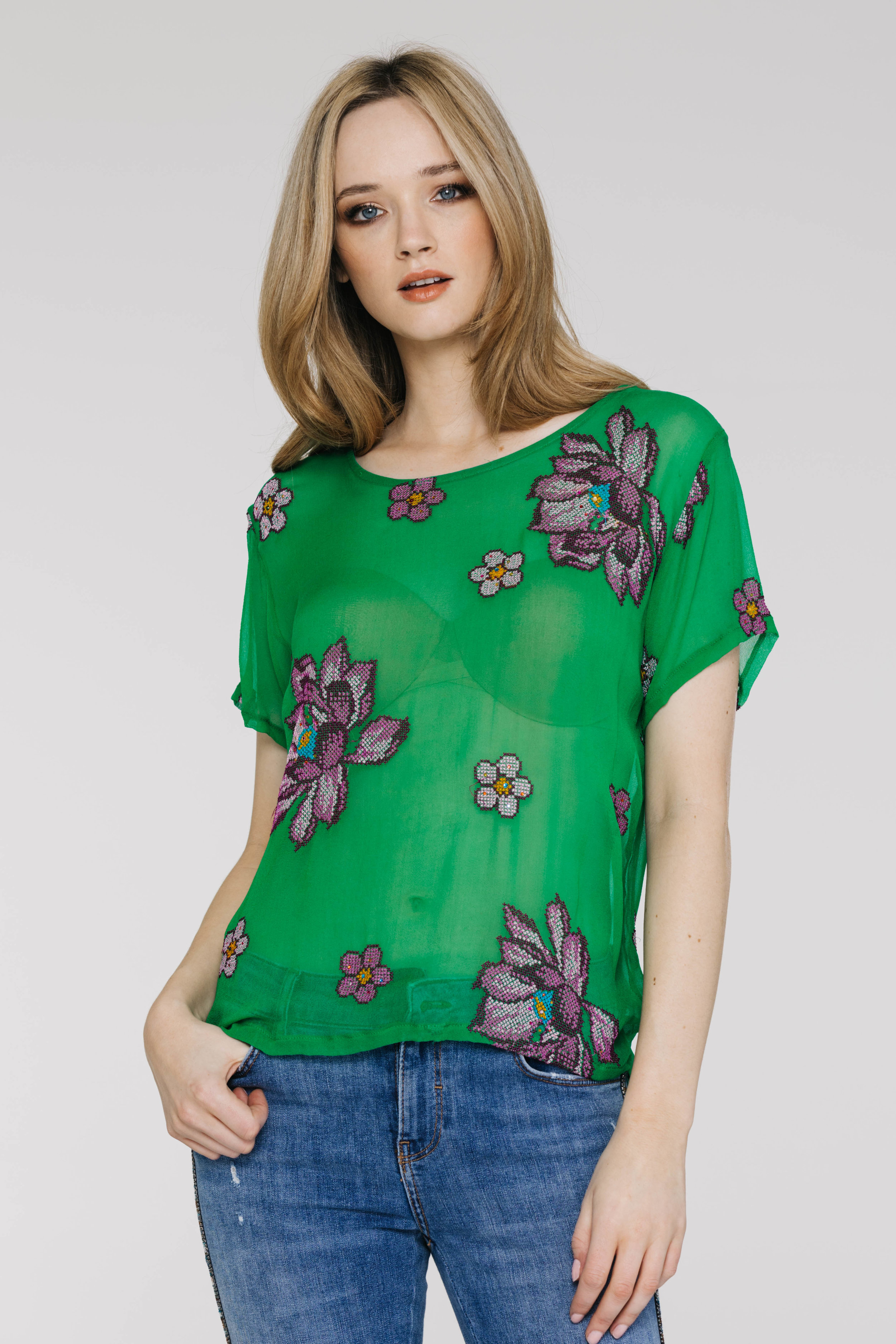 Perfect Tee 4405PD Starry Rose Green