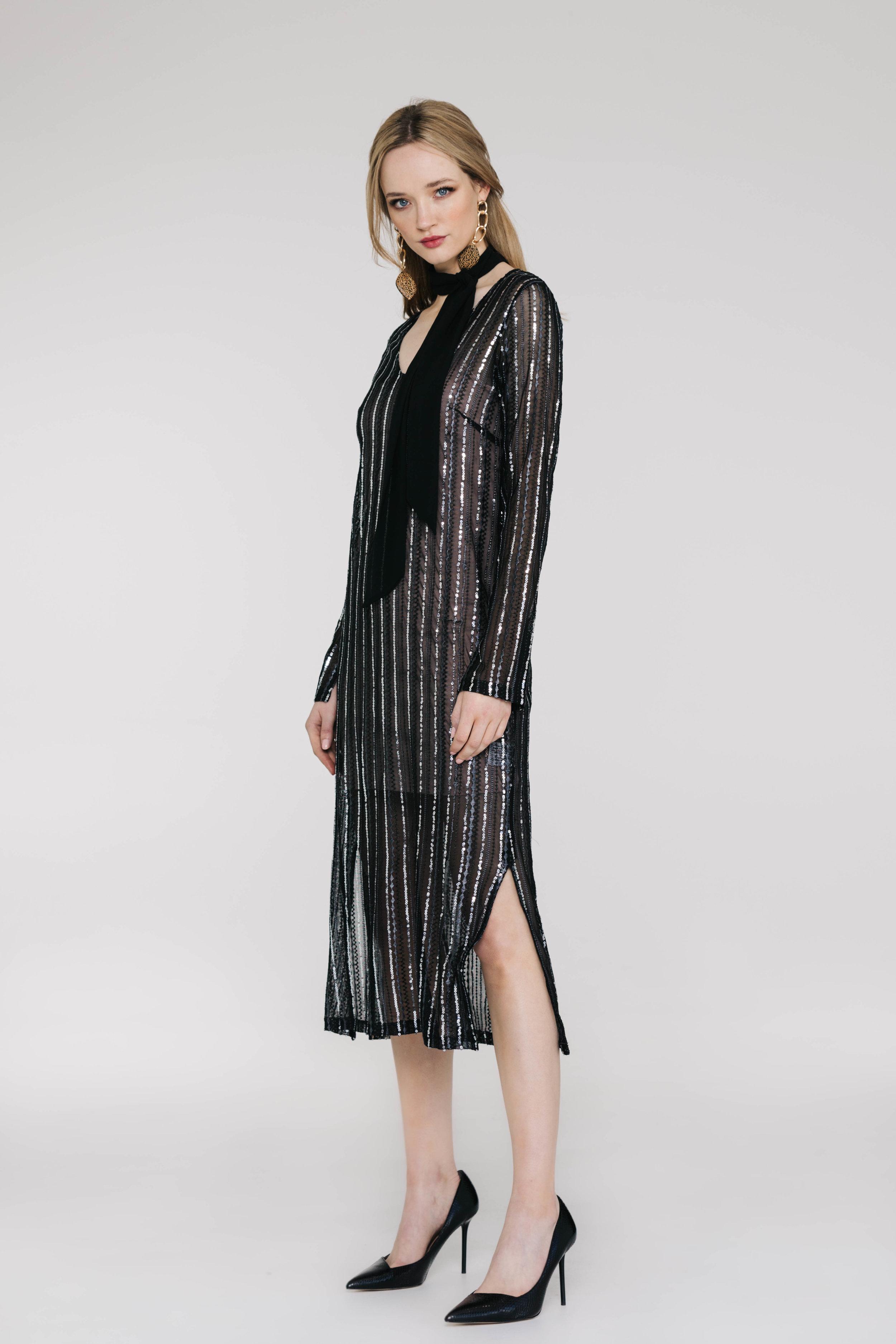 Gaga Dress 6517N Gatsby Knit Black