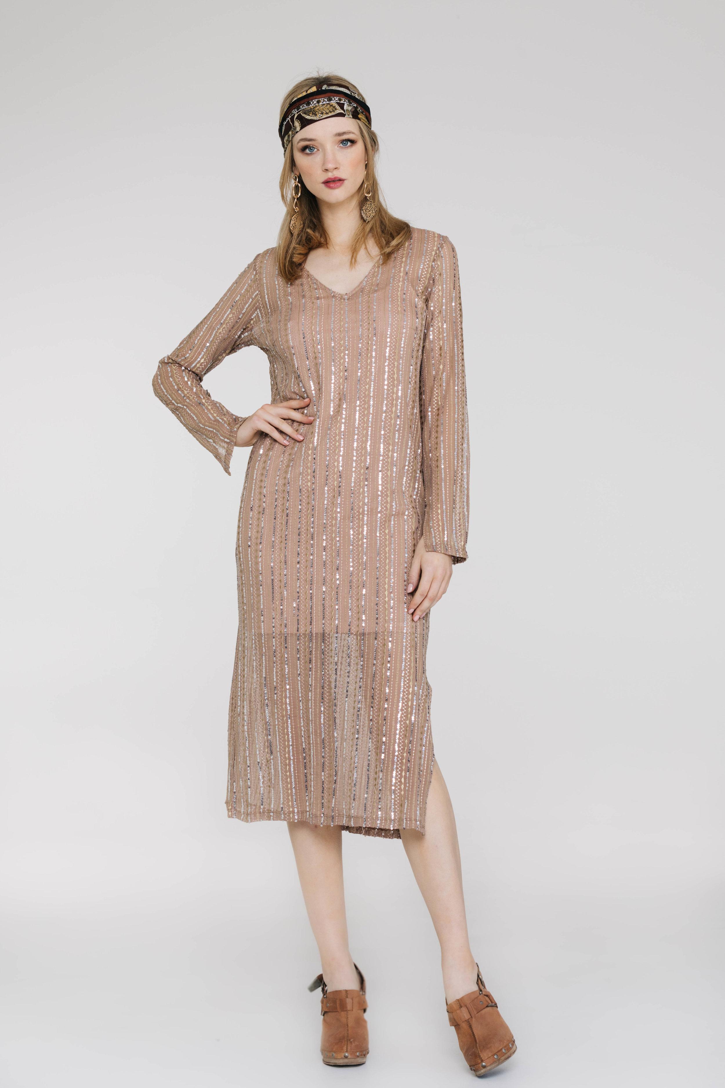 Gaga Dress 6517N Gatsby Knit Skin