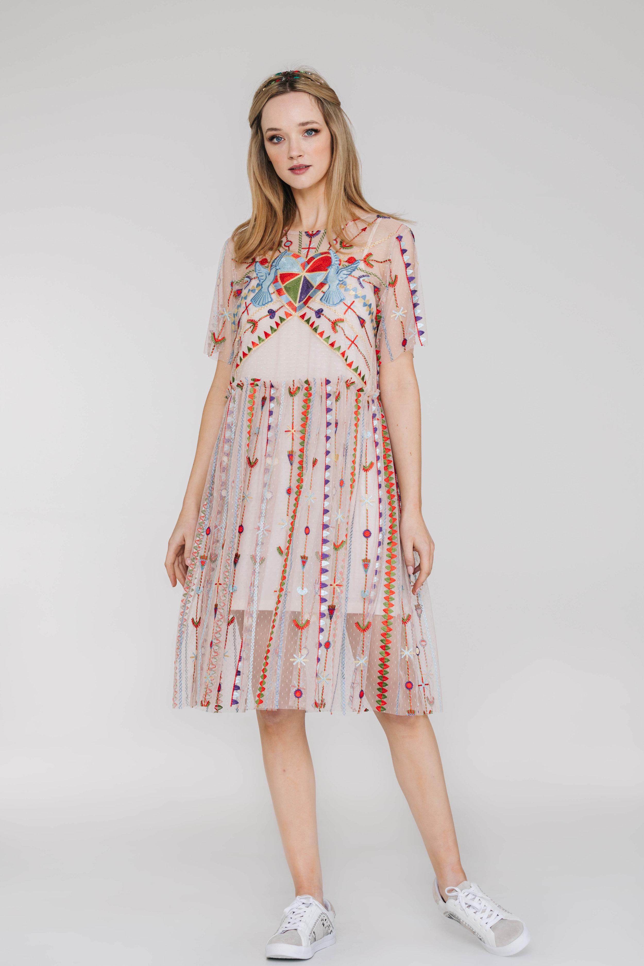 Mela Dress 6449N Valentine Tulle Ivory