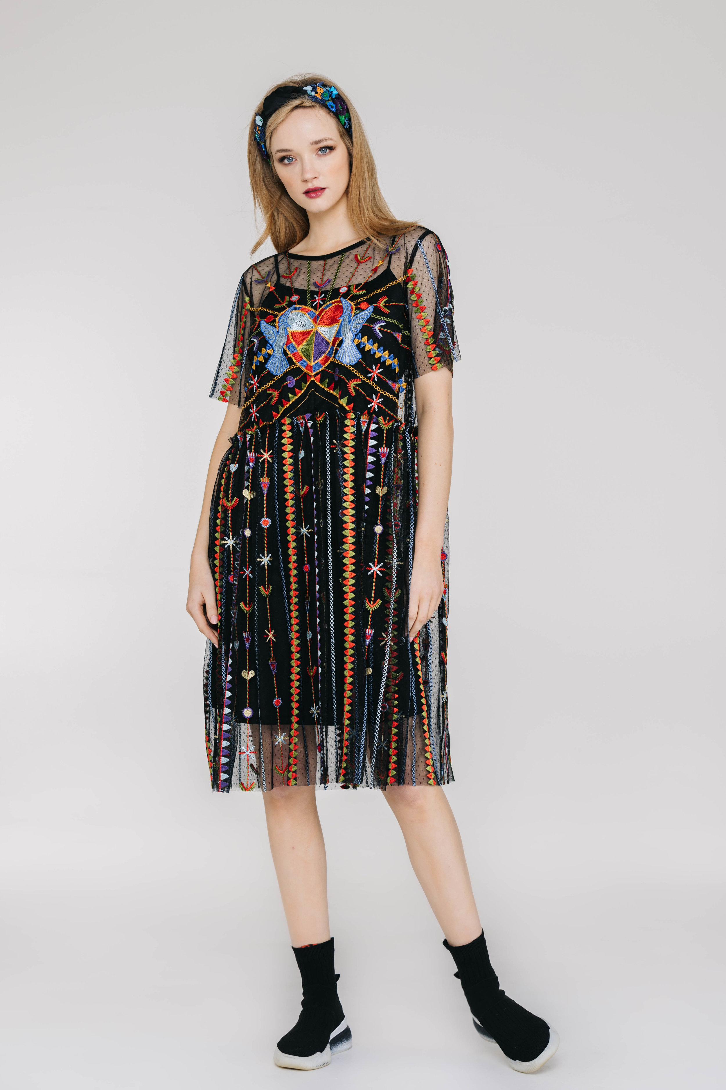 Mela Dress 6449N Valentine Tulle Black