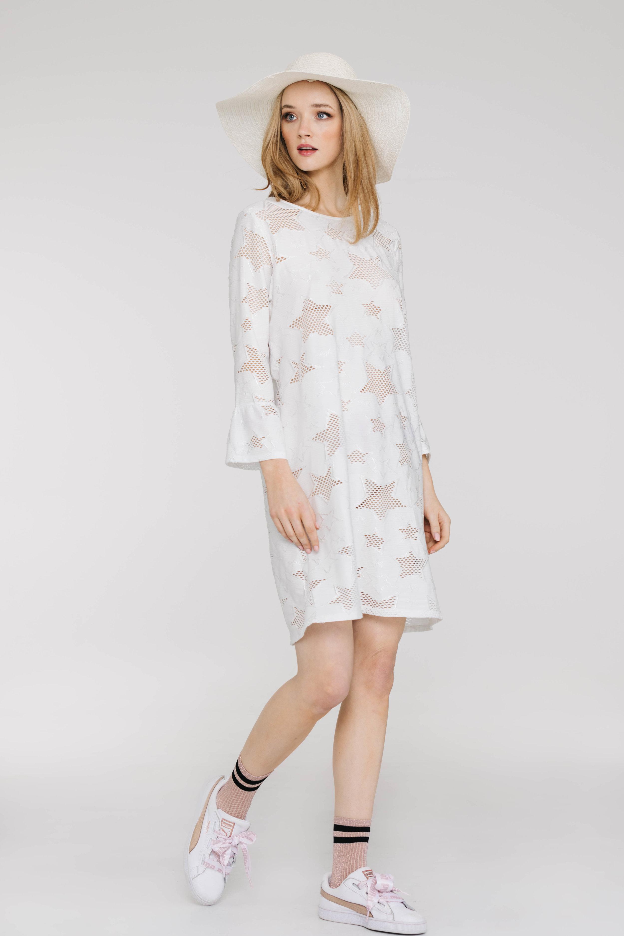 Elianna Dress 6261N Star Knit White