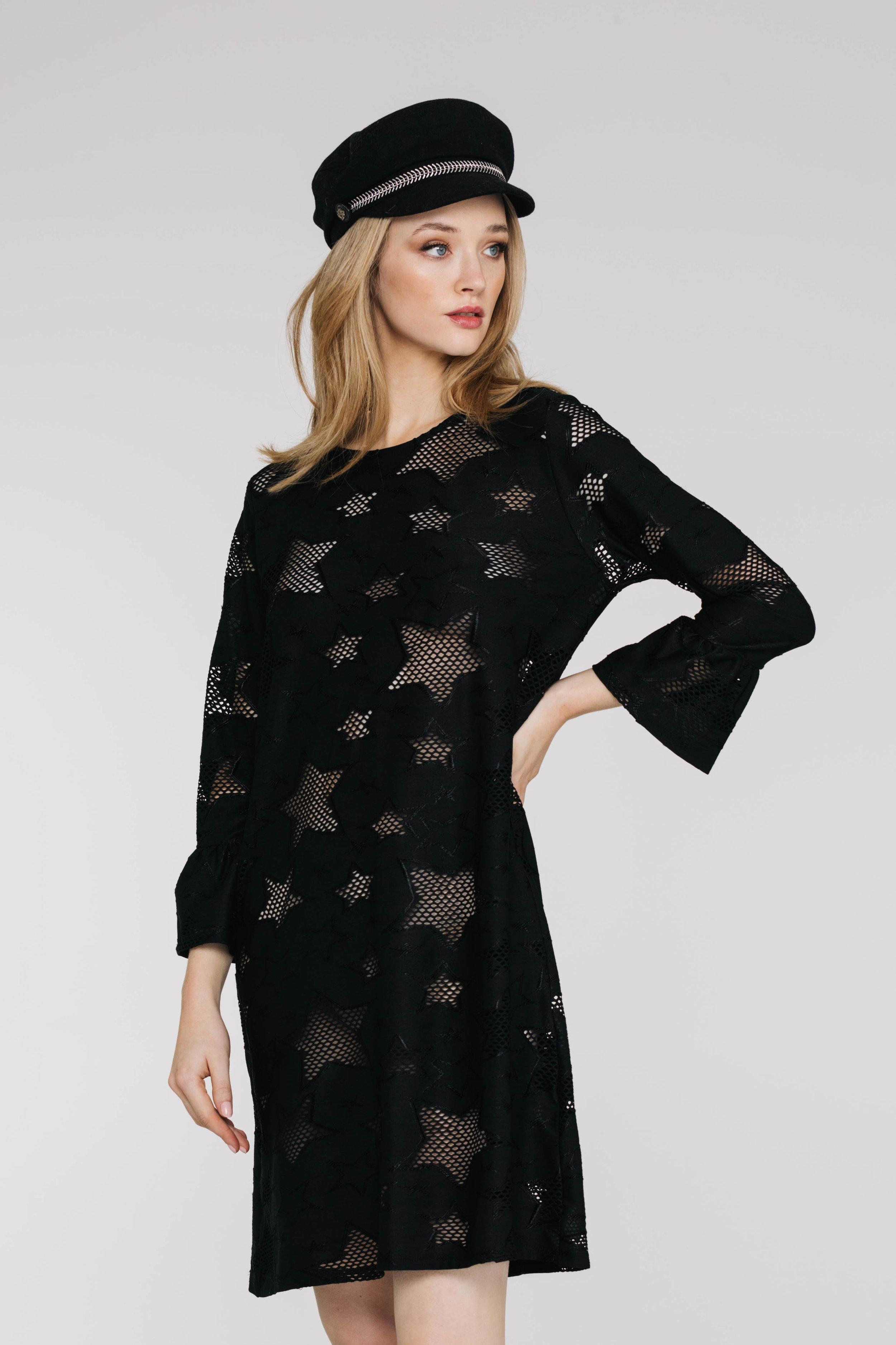 Elianna Dress 6261N Star Knit Black