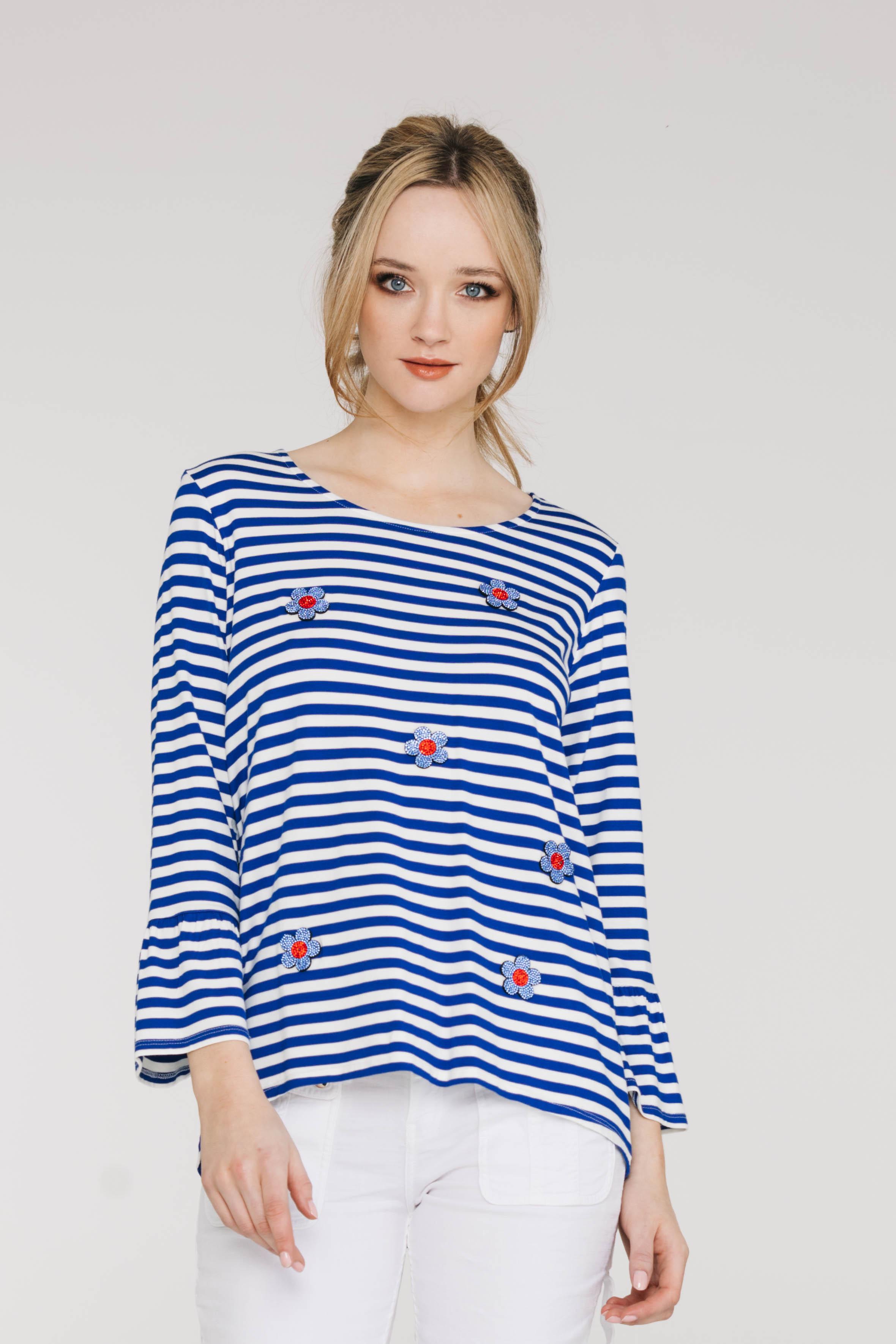 Eliana Tee 6106P Stripe Blue, Billy Pant 6524N