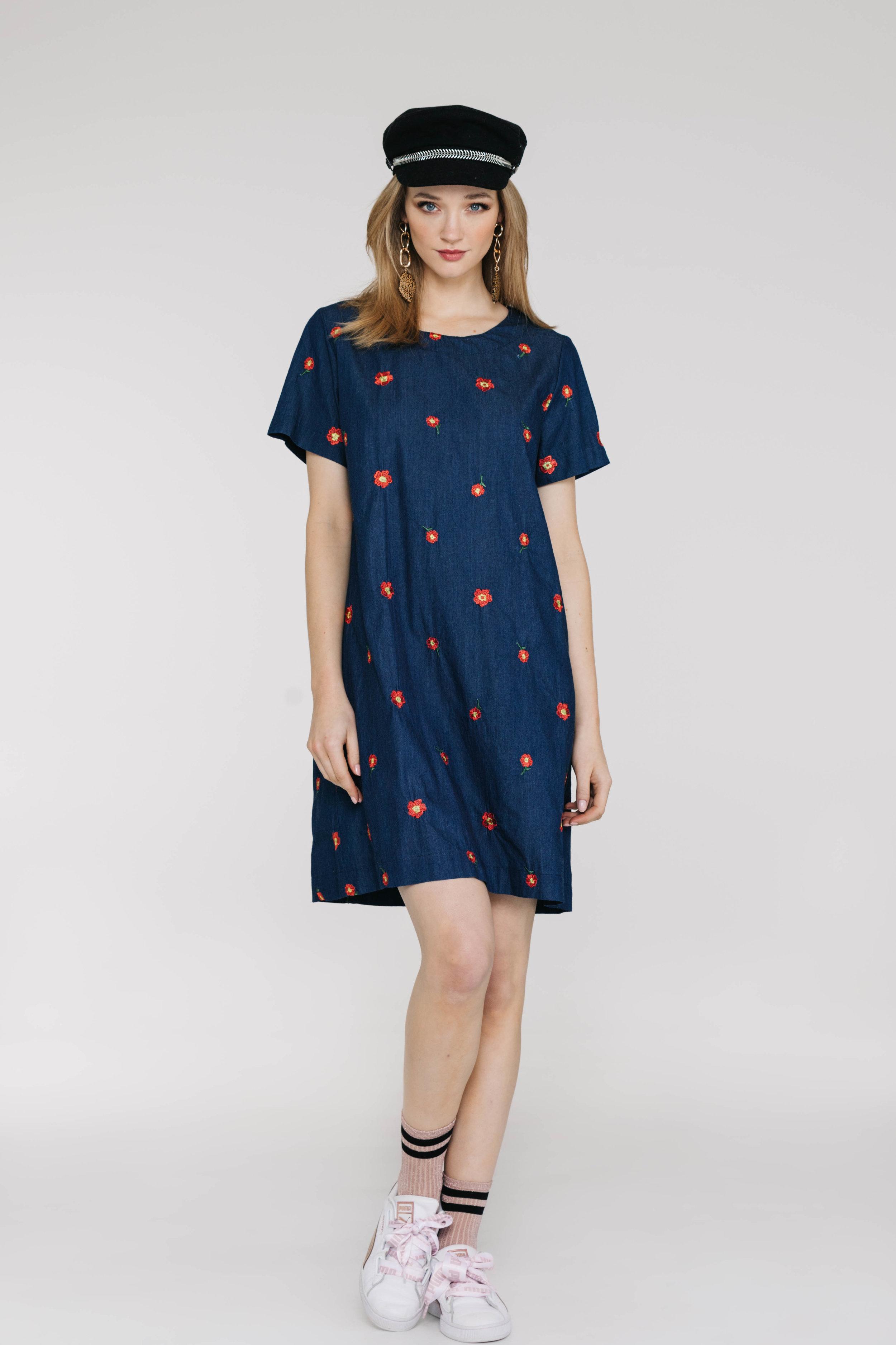 Factory Dress 6019N Dark Denim