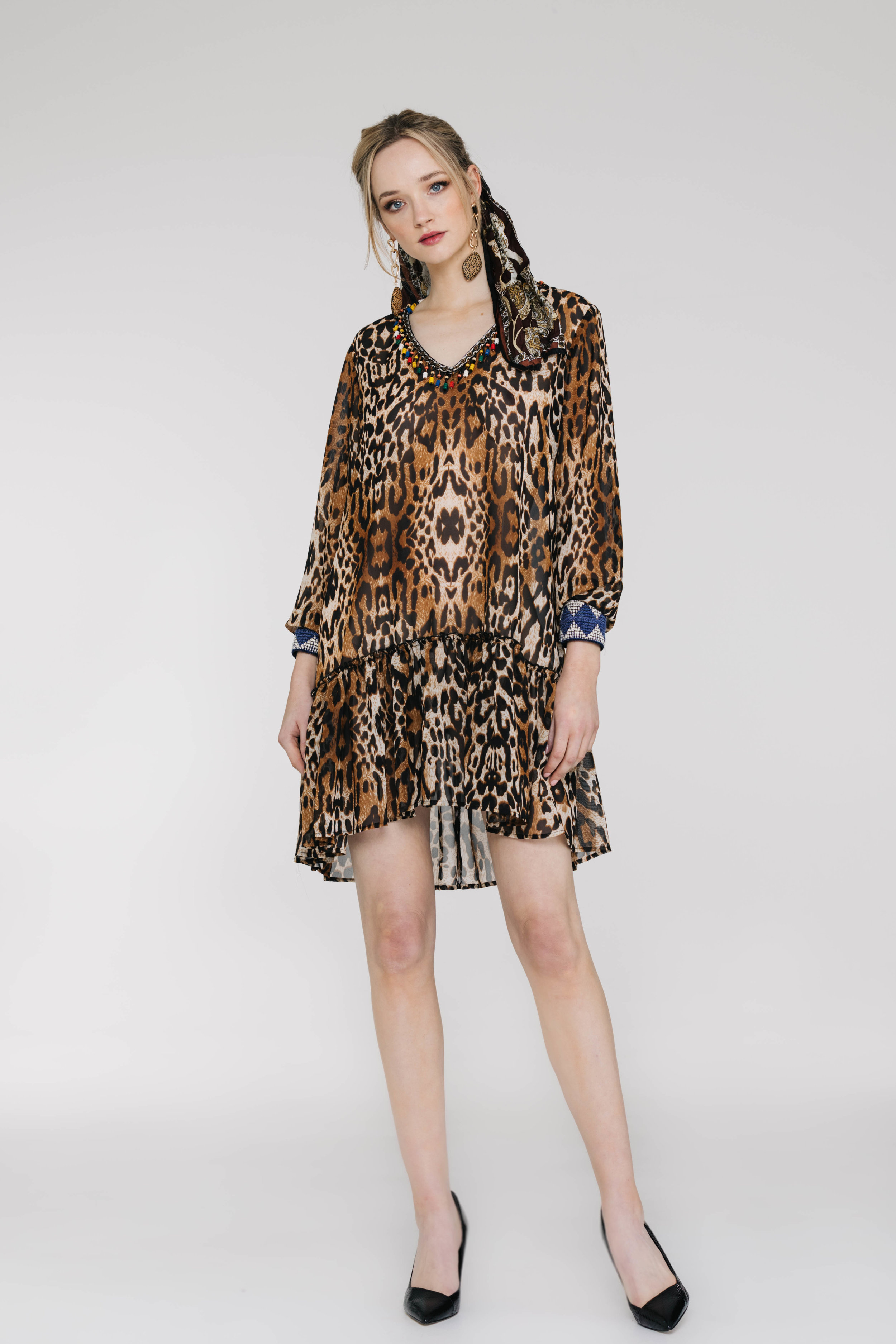 Ruff All Dress 6143N Brown Skin