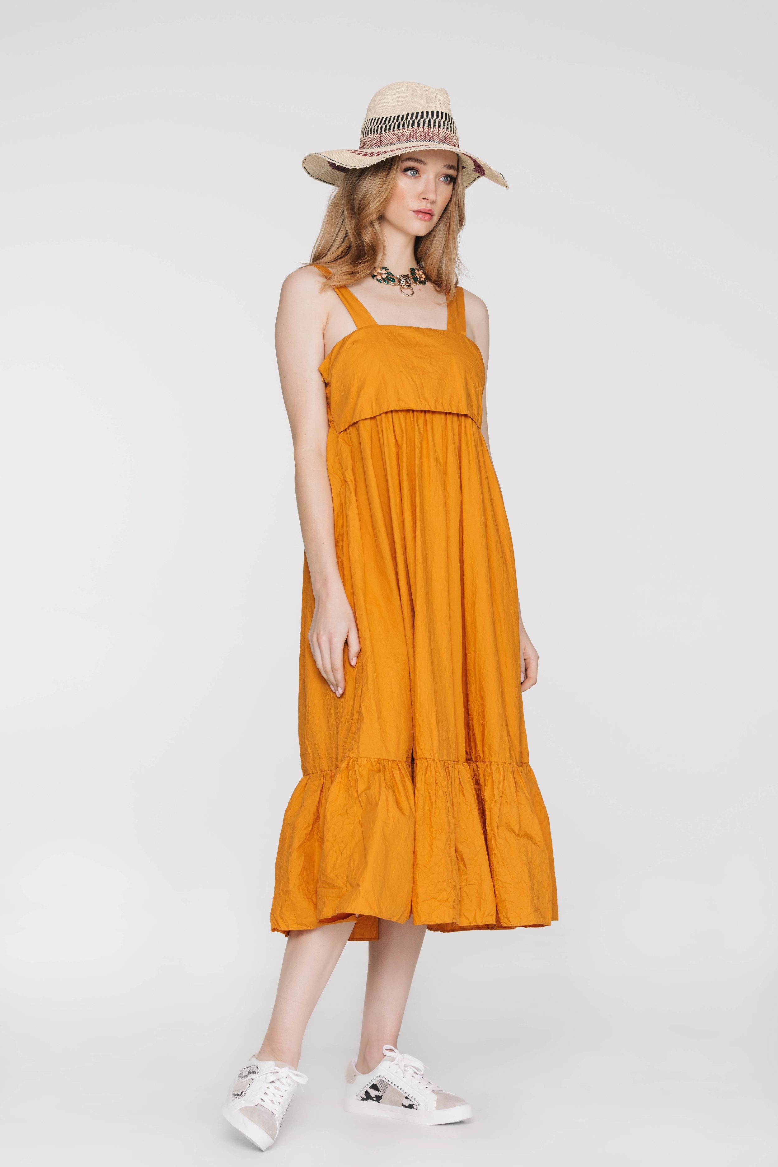 Tiptoe Dress 6523N Mustard