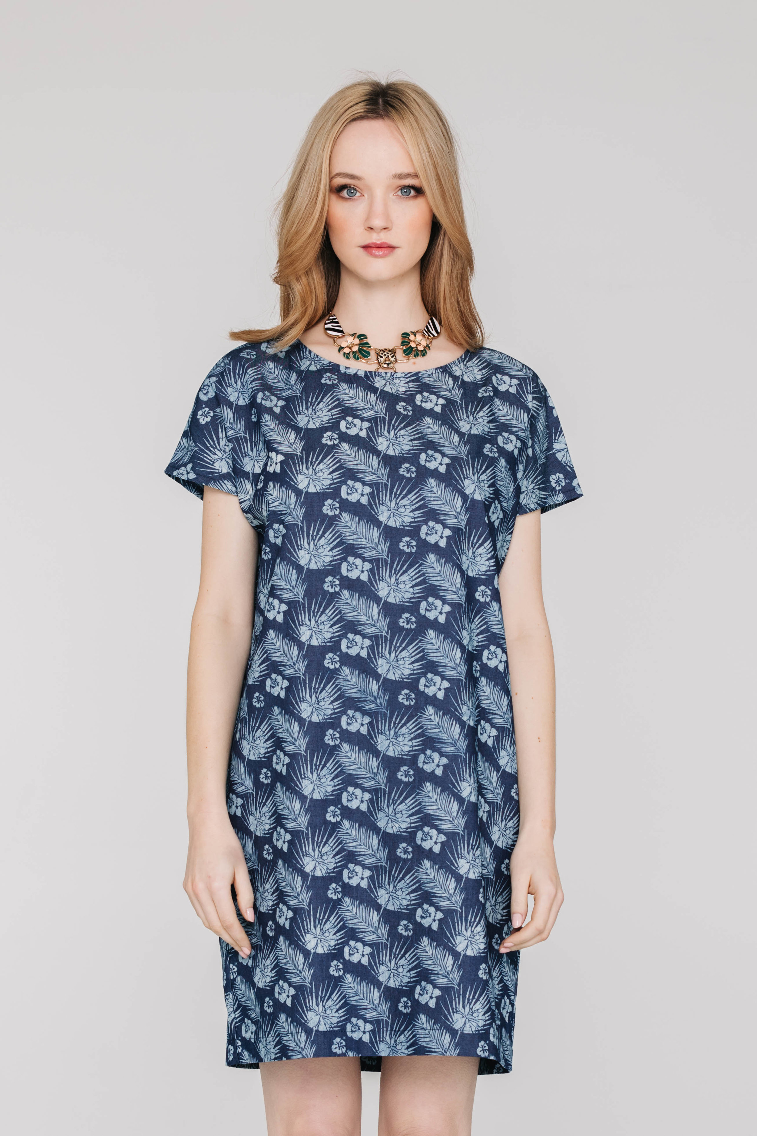 The Dress 5474N Hawaiian Denim