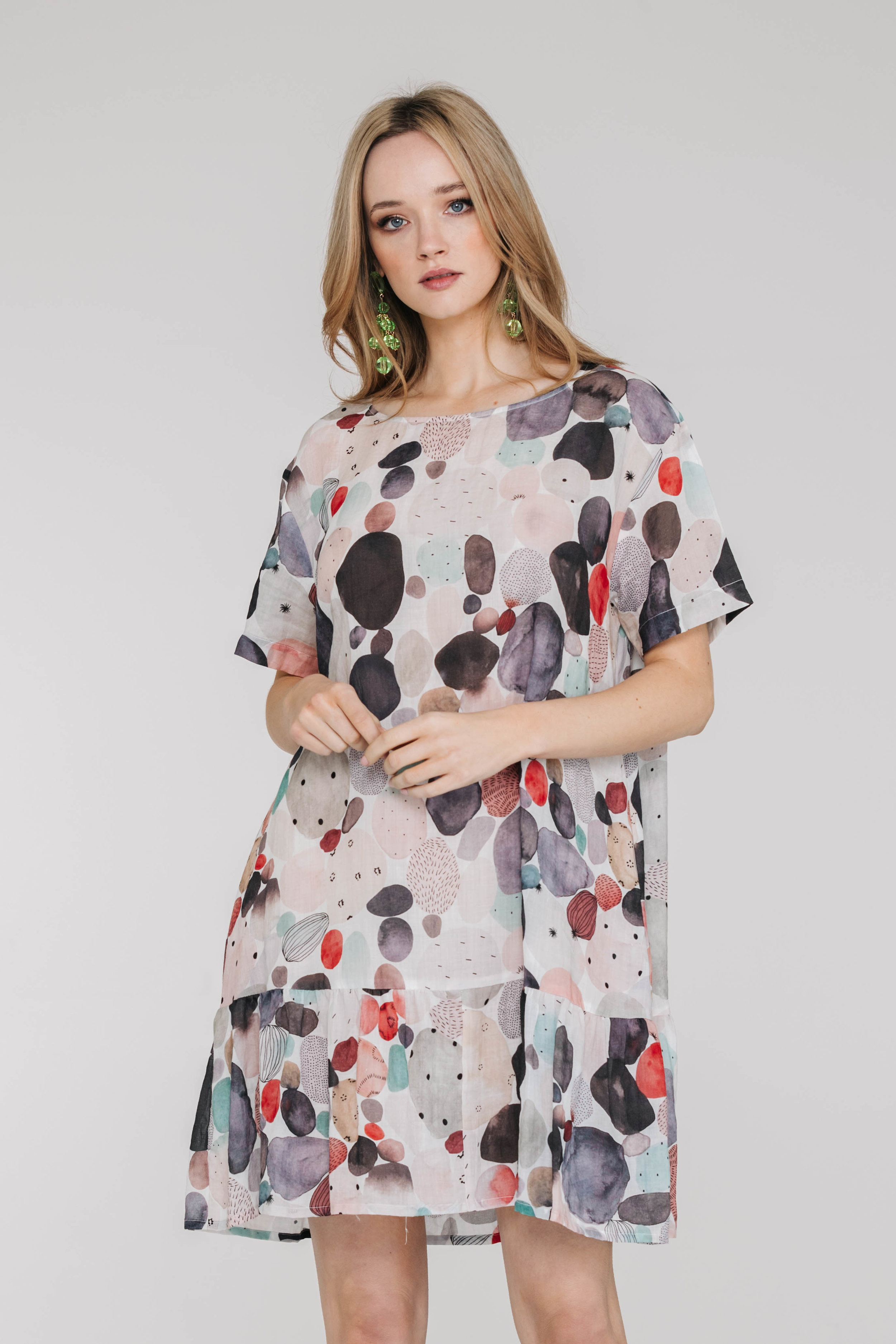 Tulip Dress 6440N Pebbles