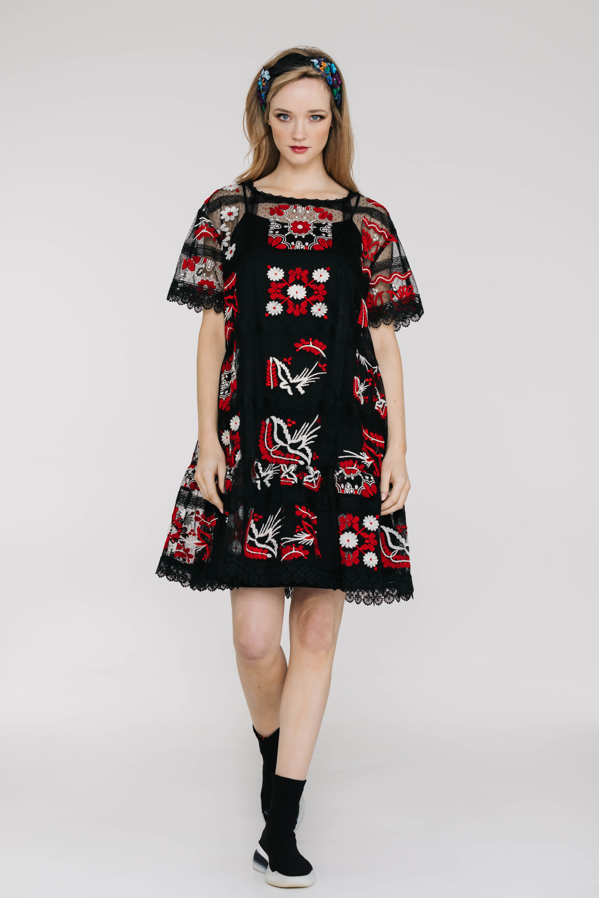 Tulip Dress 6440N Windows Black