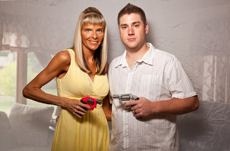 Lois Bielefeld, Lisa and Pat, Smith & Wesson 642.38 special. 2012