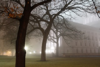 Capitol in Fog, by Linda Pils. All rights reserved.