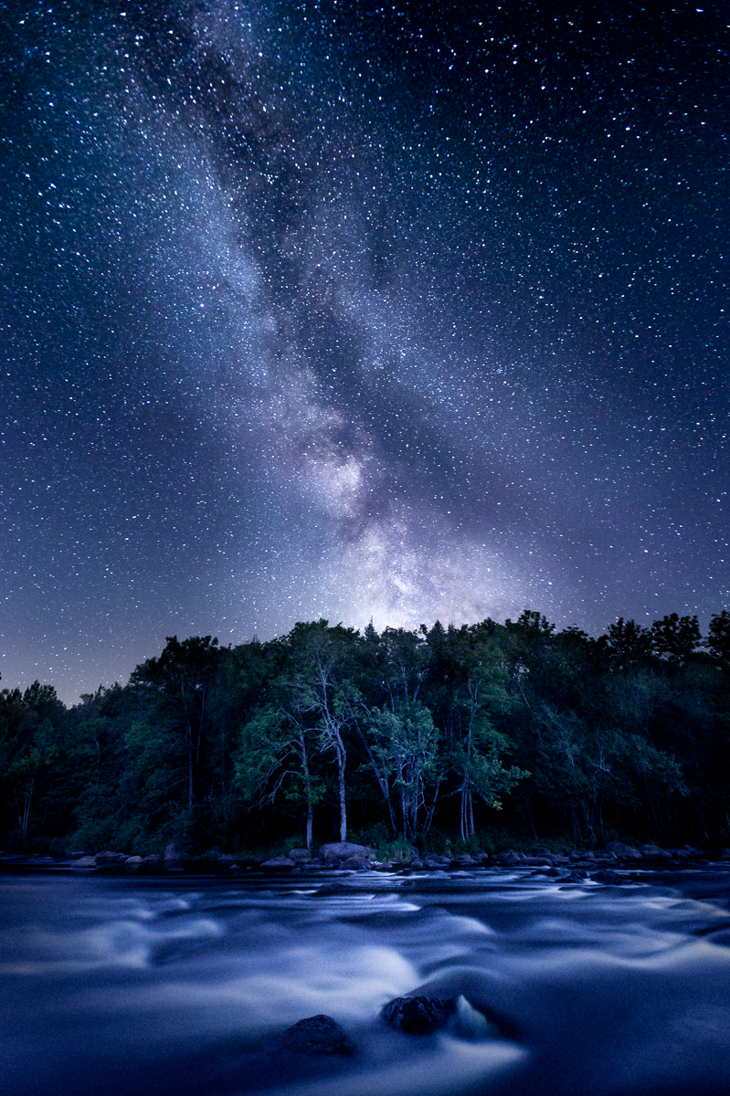 Milky Way Over The Wolf River, Wisconsin, by Thomas Lemke. All rights reserved.