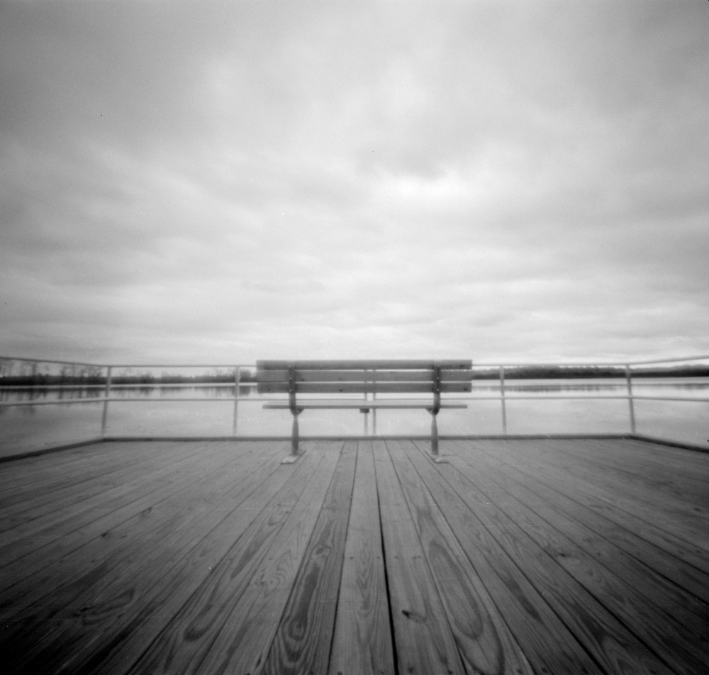 Accessible Fishing Pier  Image made with Pinbox 120 pinhole camera using Kodak Tri-X 400 developed in D76. © 2018 Bill Guetschow.
