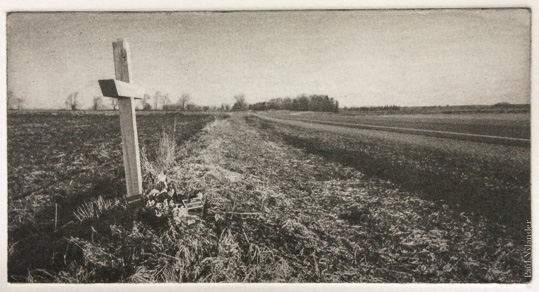 Highway Rememberance , photogravure by Paul Nylander. All rights reserved by Paul Nylander.