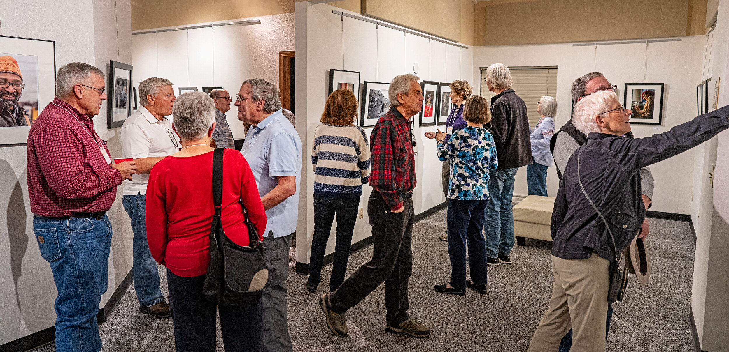 Featured Photographer Opening Night for Human Interest Group. By Mark Golbach, all rights reserved.