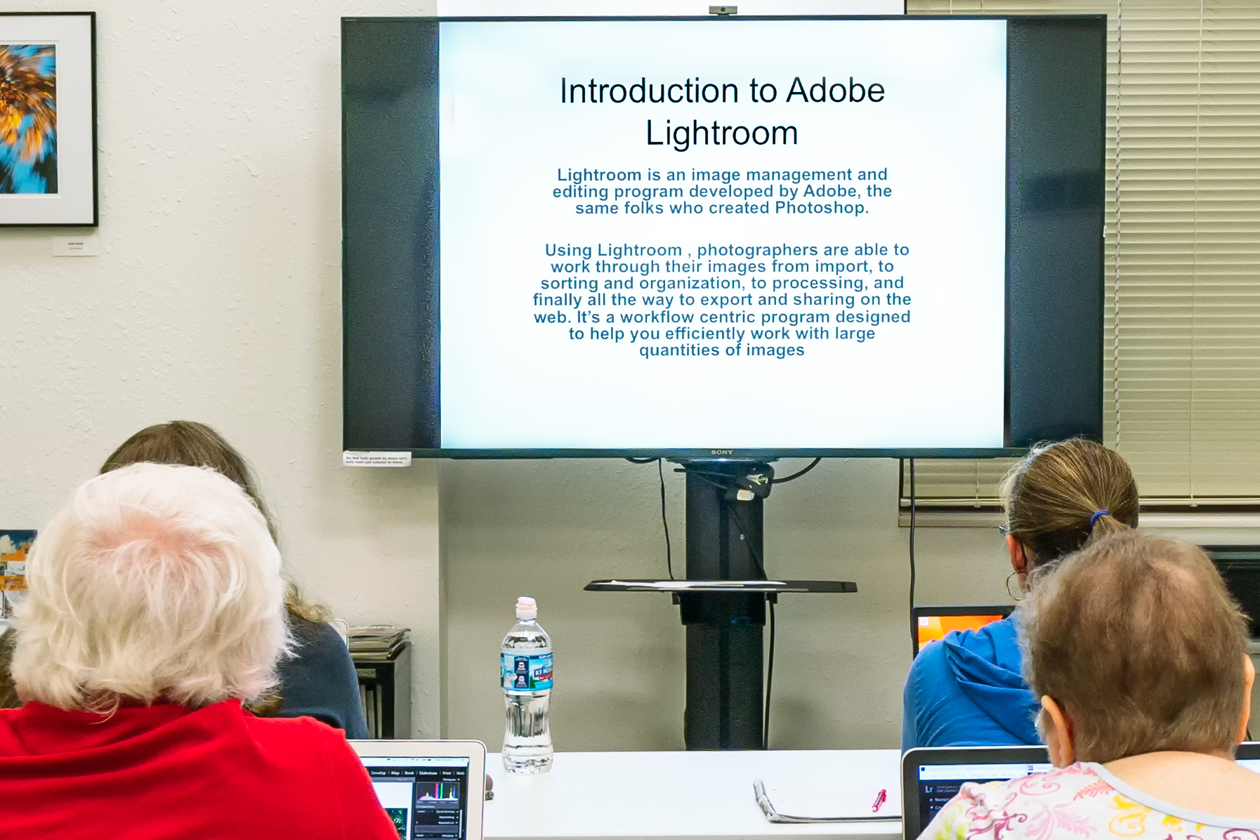 John Lorimer's Intro to Lightroom class. Photo: Jim Thornbery, all rights reserved.