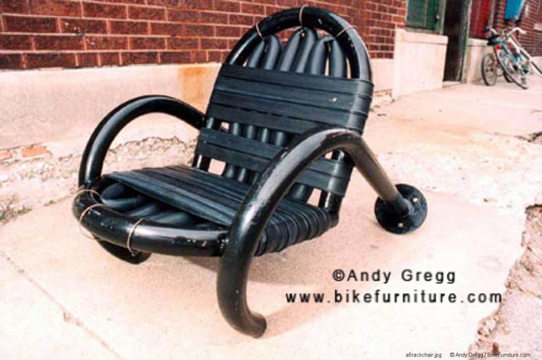 Bike rack chair