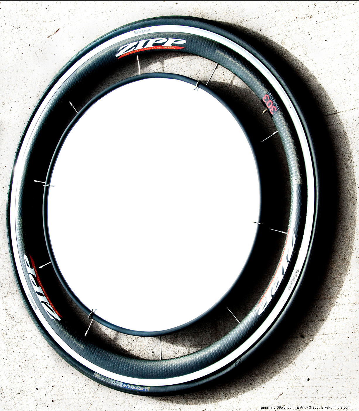 Bike wheel mirror - road carbon
