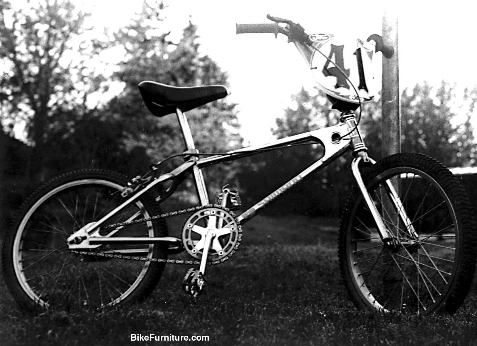 I bought my first BMX bike, this Mongoose Supergoose, with money saved from my paper route.  I also bought my first camera around the same time, and bikes and cameras have been with me constantly ever since.