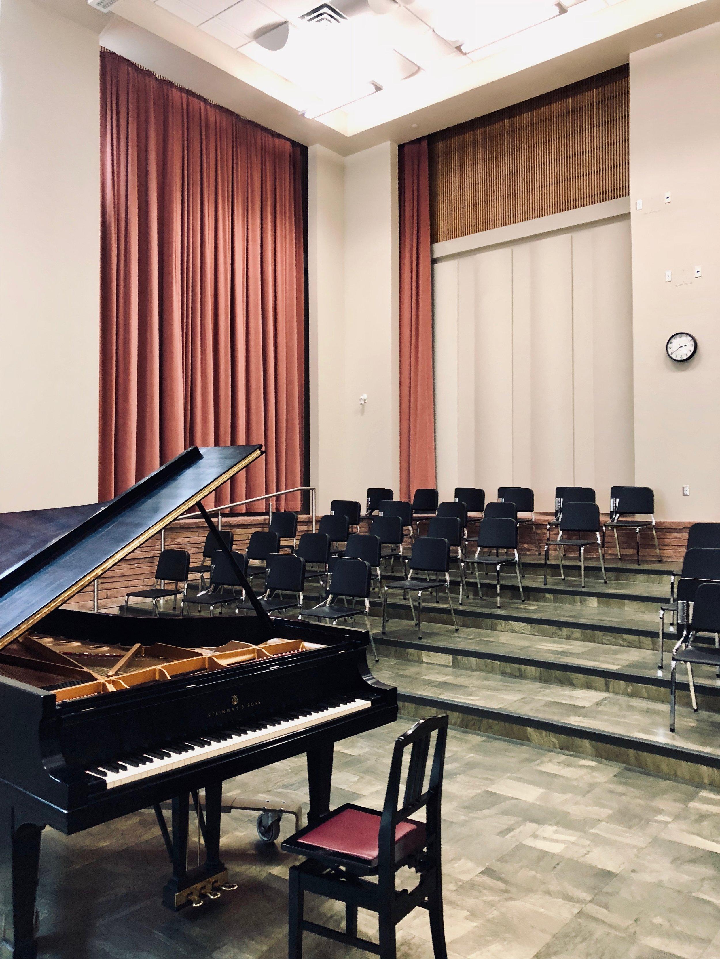 the recital hall  / choir room