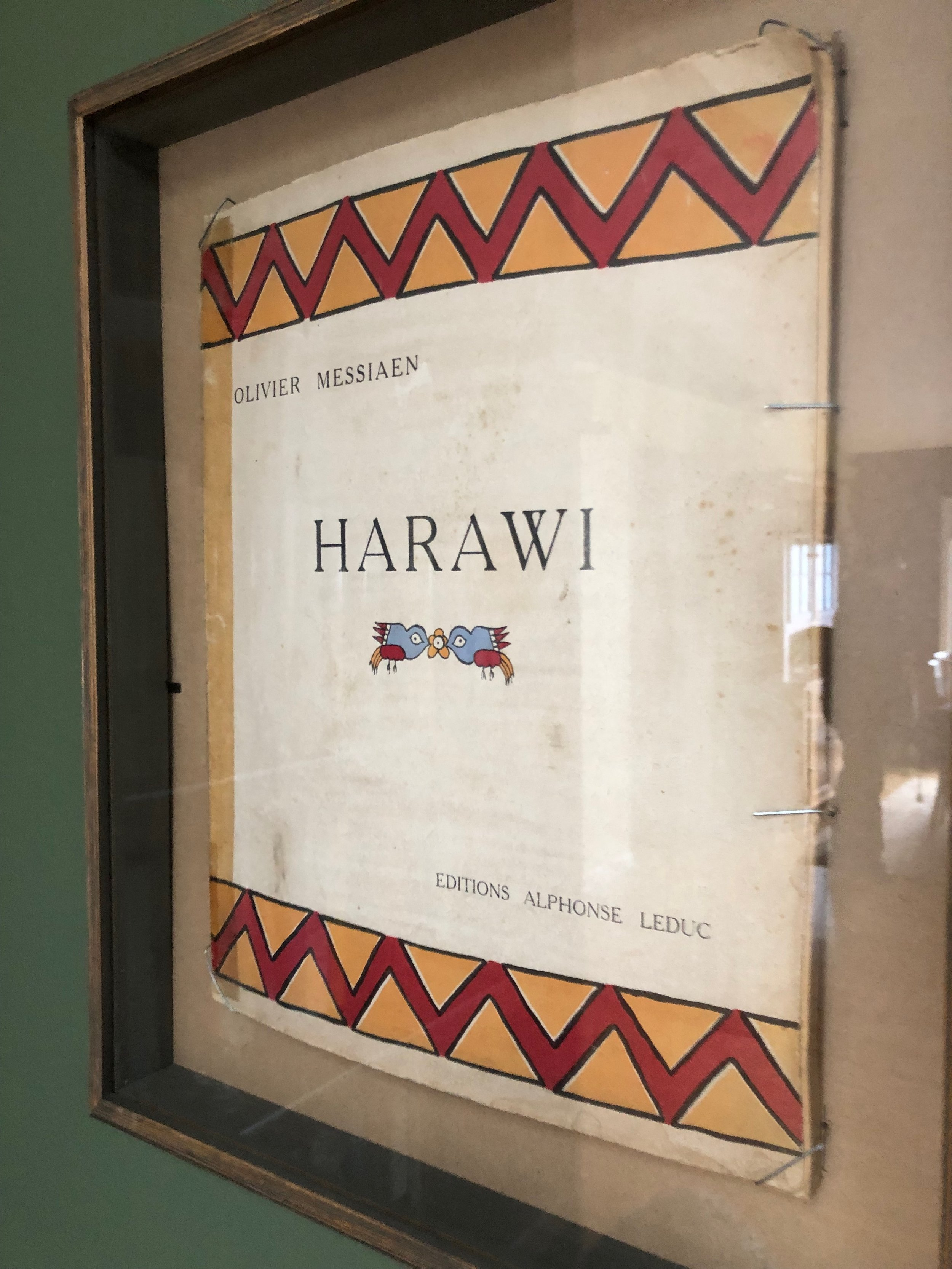 this is a very rare deluxe edition of the first piece in Messiaen's 'Tristan trilogy,' the song-cycle Harawi. see the Peter Hill biography, page 184 in the hardcover. there were only 200 of these printed..