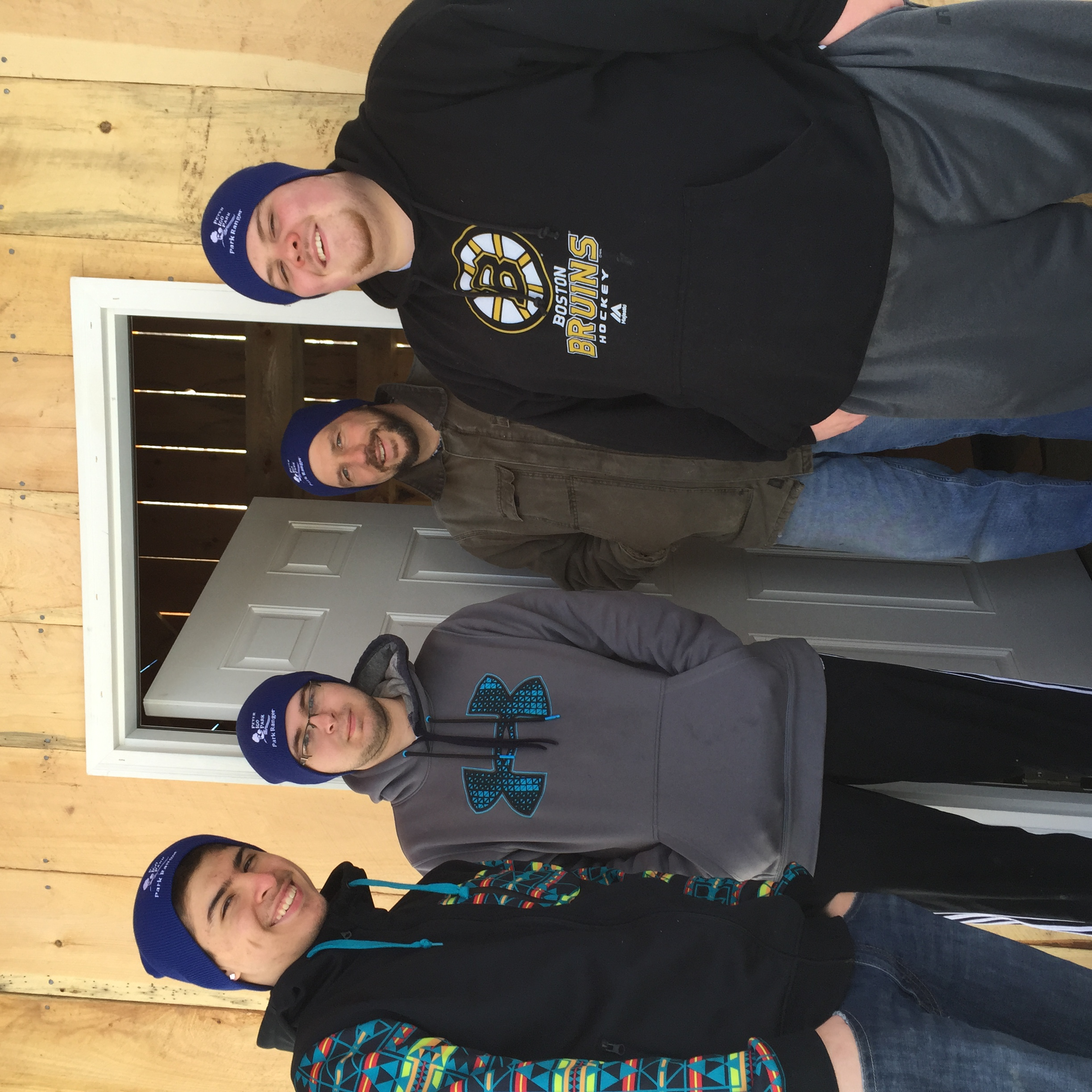 The guys are all styling in their new Peter Igo Ranger beanies!