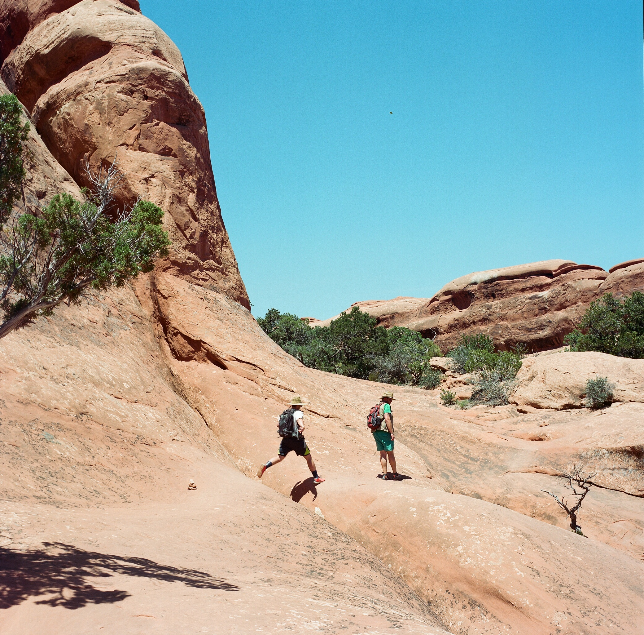 7 mile hike through Arches National Park