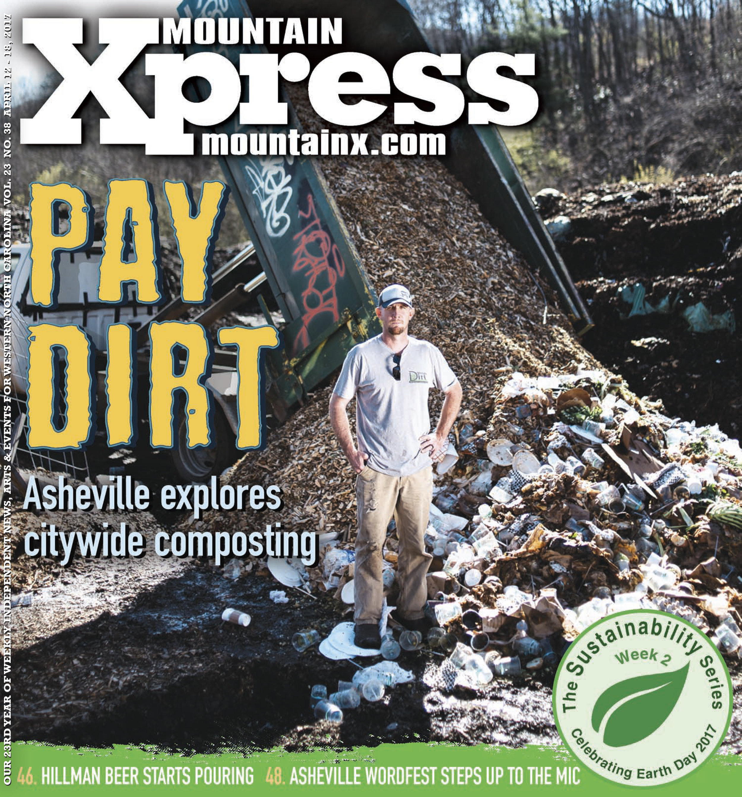 Jack Sorokin Mountain Xpress Danny's Dumpster Compost Editorial Shoot Magazine Newspaper Cover