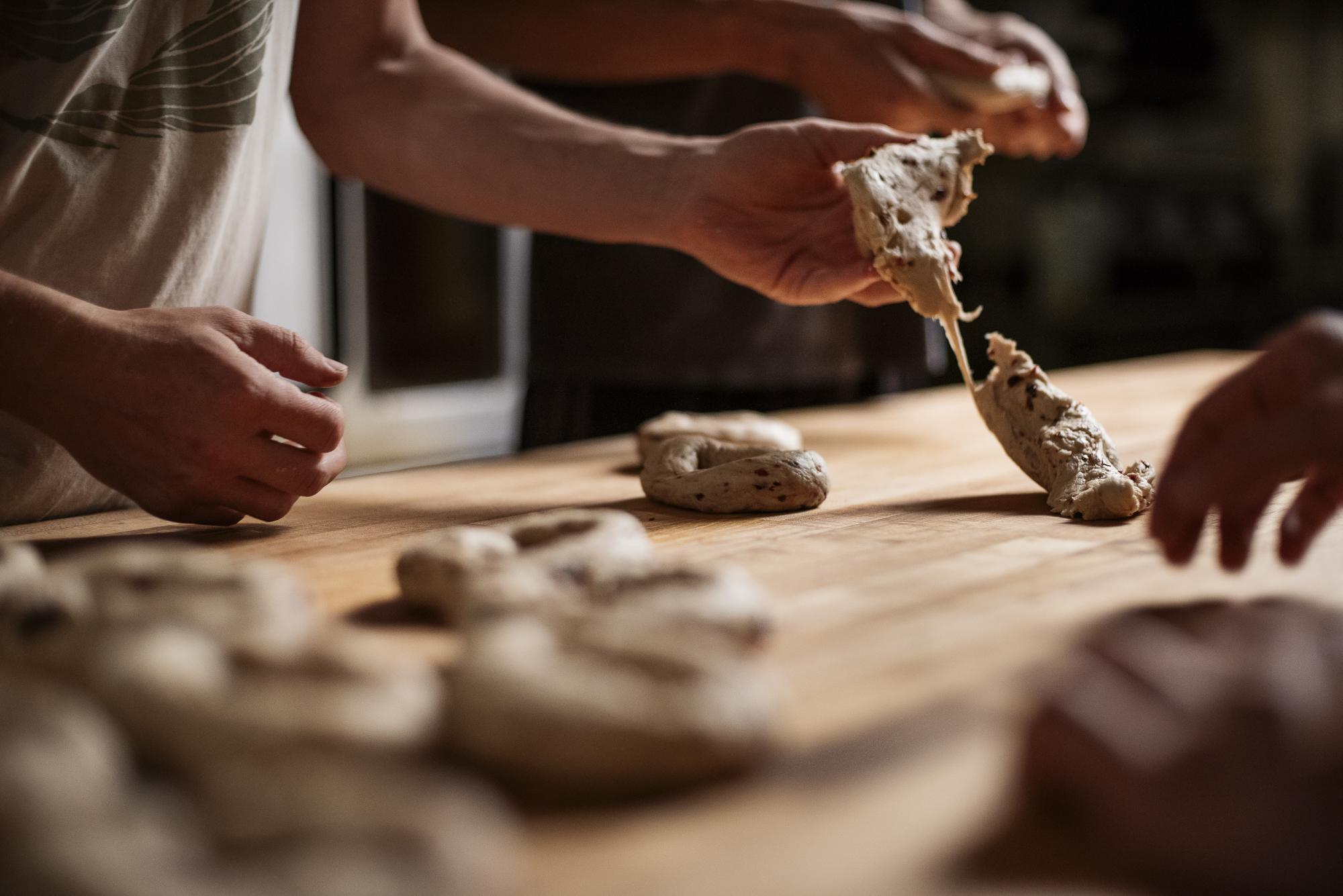 Home Free Bagels  Jack Sorokin Flame Food Photographer Asheville North Carolina NC Bakery Commercial Photography