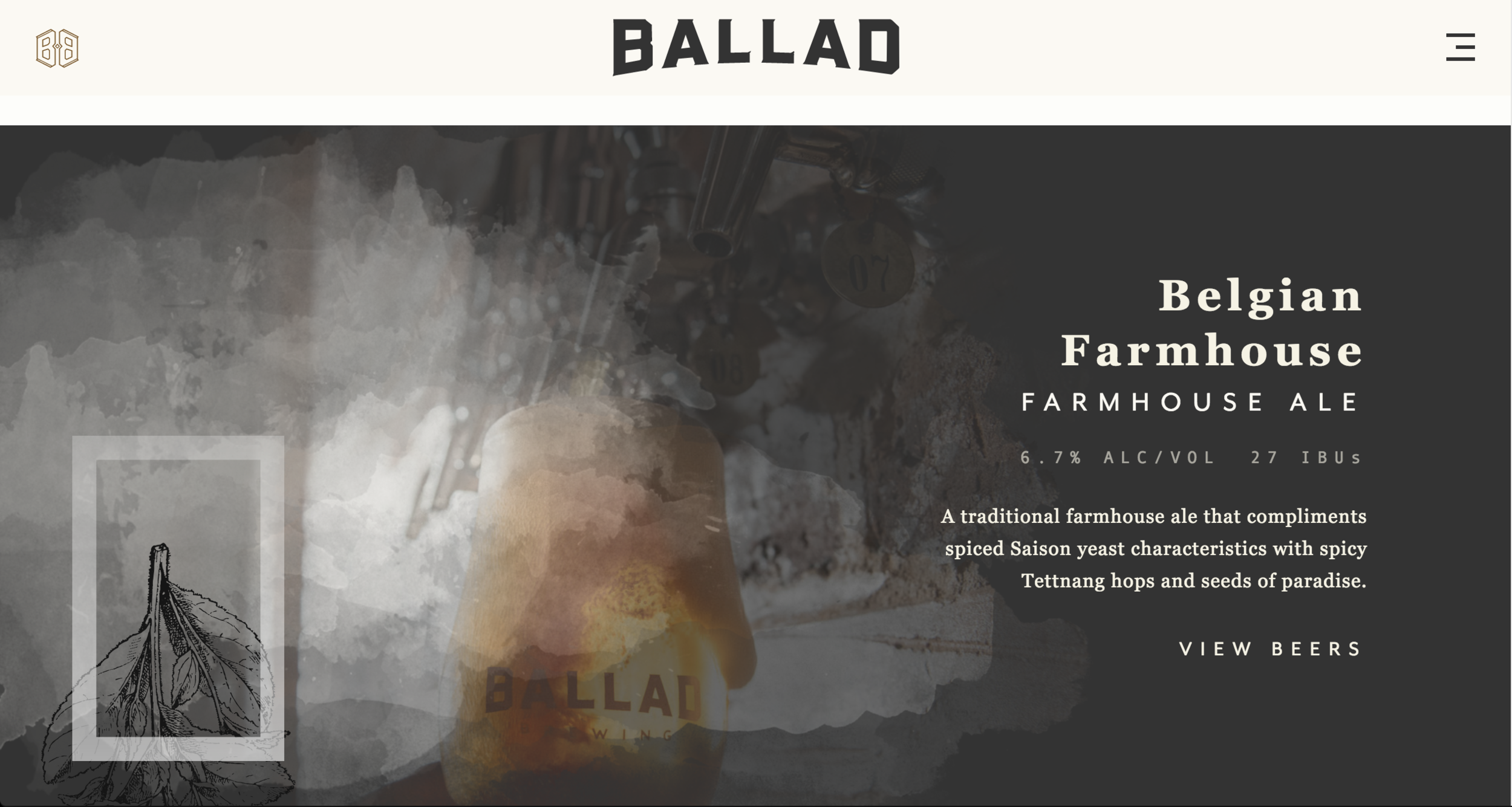 Ballad Brewing Jack Sorokin Beer Advocate Editorial Commercial Website Design Photography