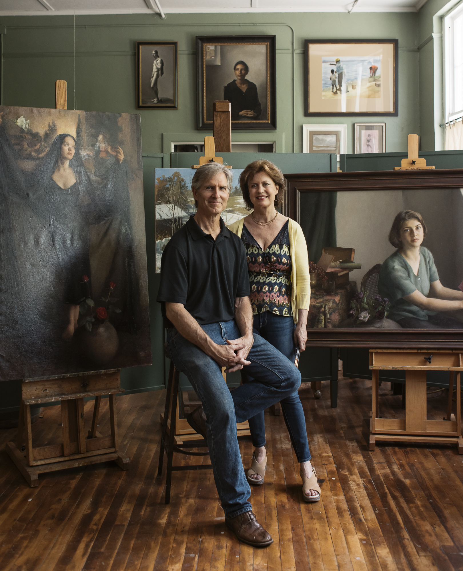 Michele Jim Ostland Asheville Made Magazine Jack Sorokin Flame Artist Marshall commercial Photography editorial Asheville magazine cover 2018 july enviromental portraiture portrait couple