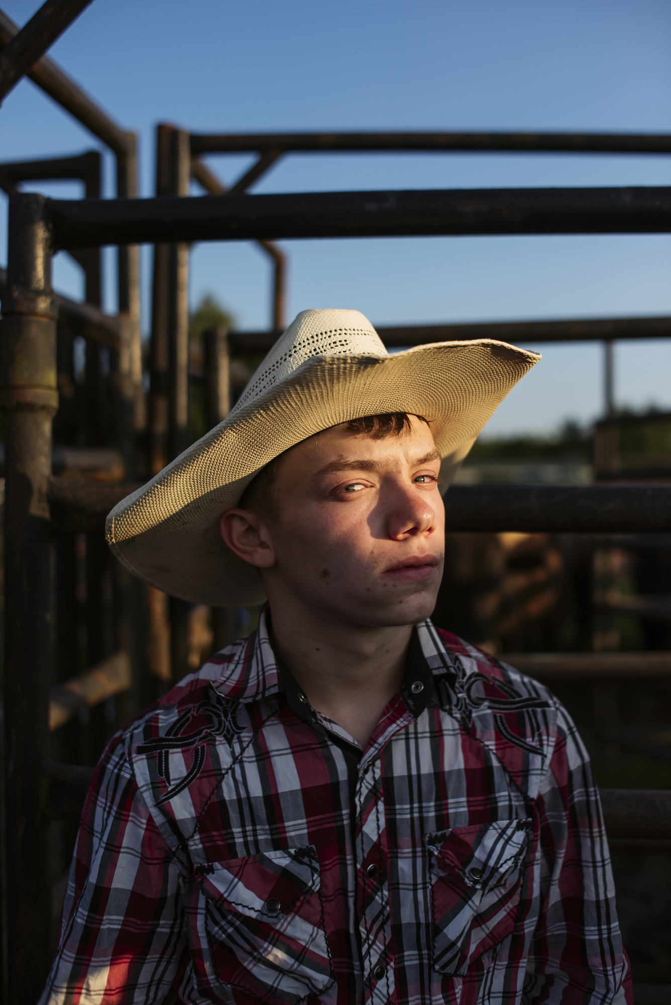 Jack Sorokin Rodeo Portrait Young Man Sunset North Carolina Photography Editorial Madison County Marshall