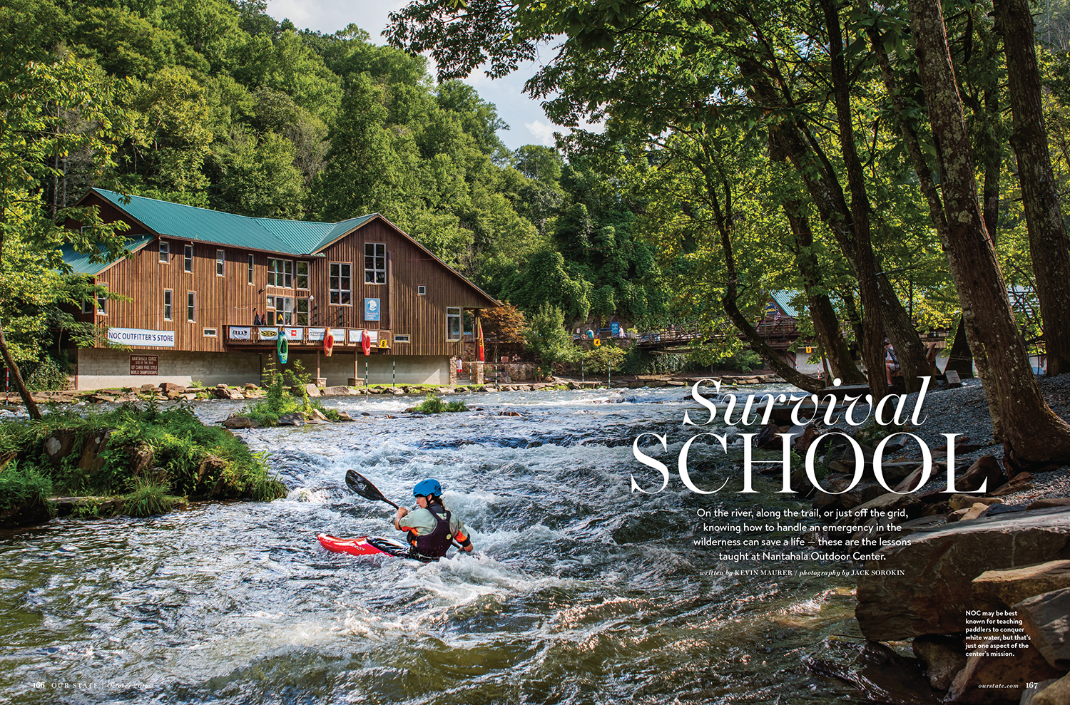 Jack Sorokin Our State Magazine NOC Nantahala Outdoor Center WNC North Carolina Forest Photography Editorial Published