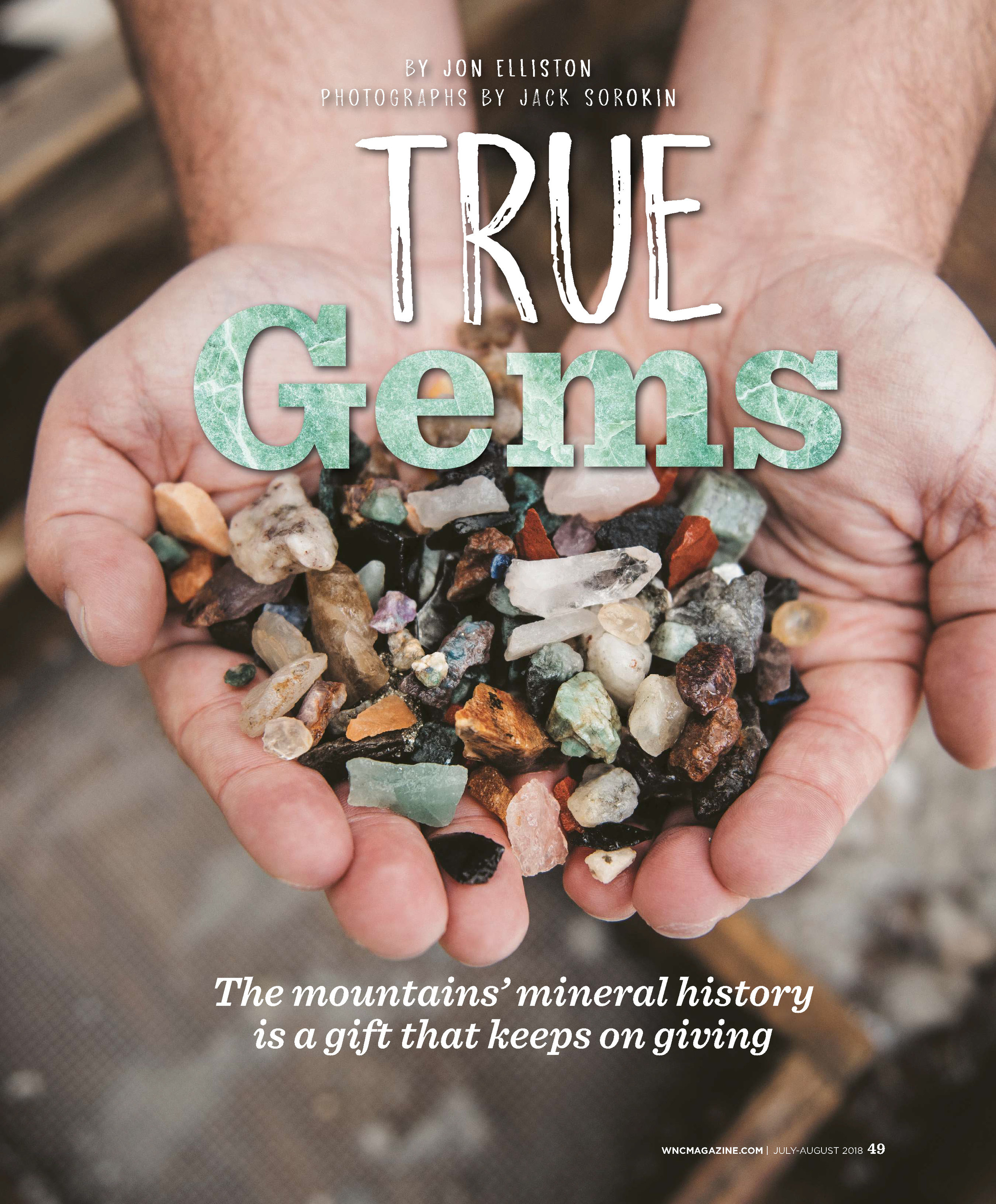 WNC Magazine Jack Sorokin Gem Mining Editorial Photography Asheville Marshall Western North Carolina