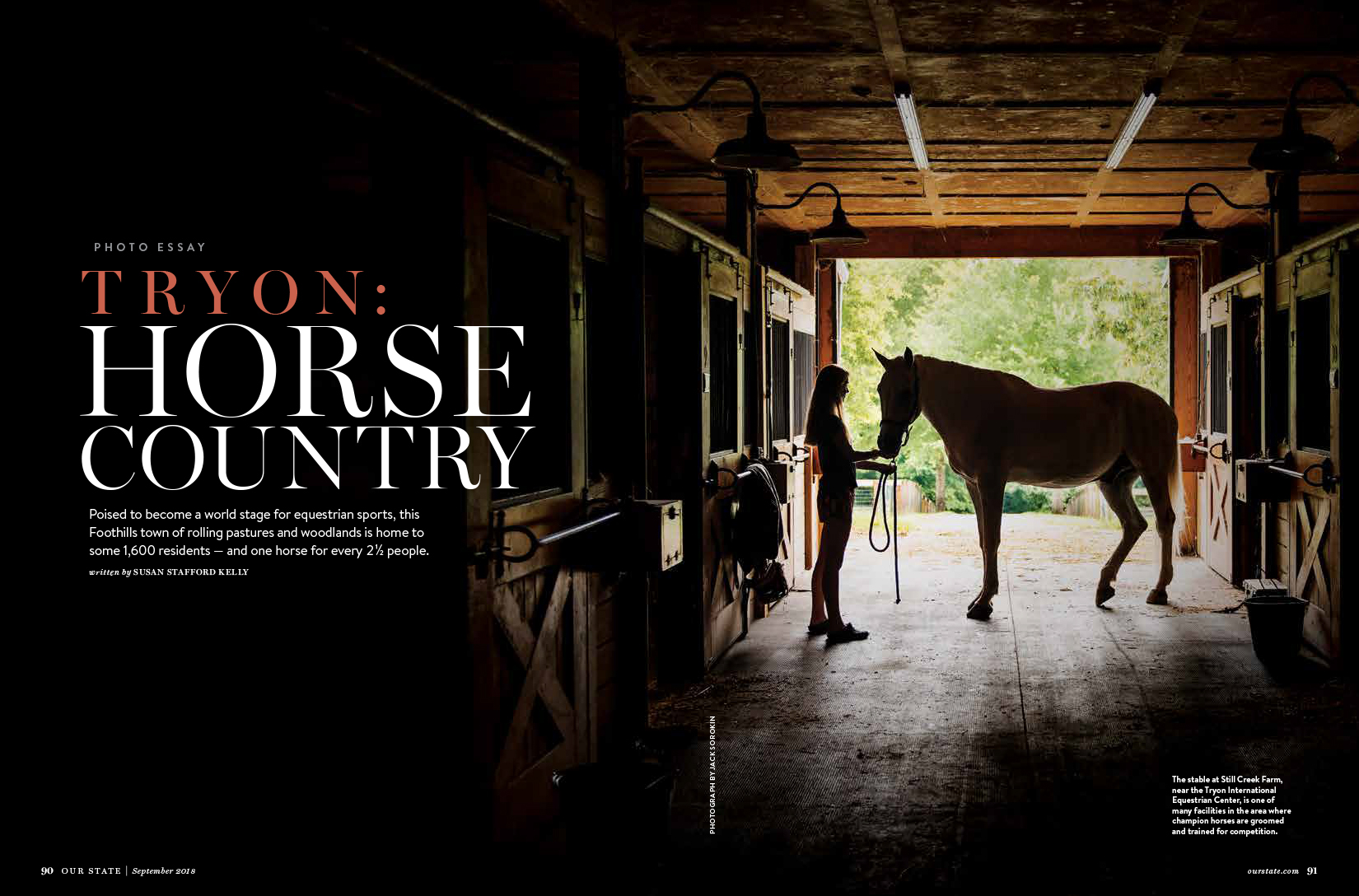 Our State September Tryon Horses Equestrian Magazine Jack Sorokin Photographer Photography Western North Carolina Asheville