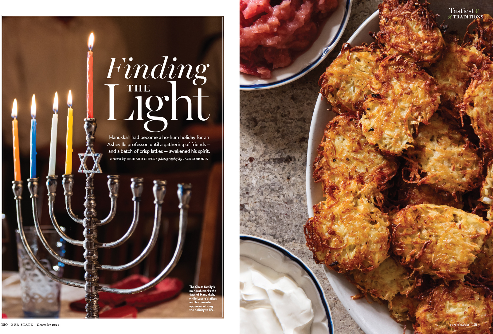 Our State Hanukkah Jewish Winter Magazine Jack Sorokin Photographer Photography Western North Carolina Asheville