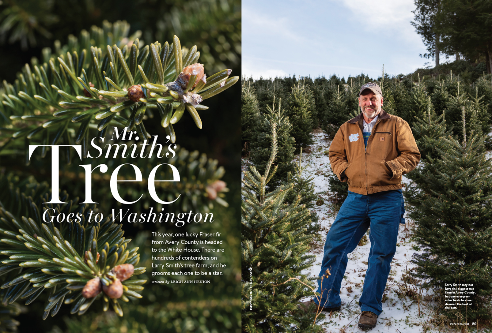 Our State Christmas Tree Spruce Pine Larry Farm Winter Magazine Jack Sorokin Photographer Photography Western North Carolina Asheville White House DC