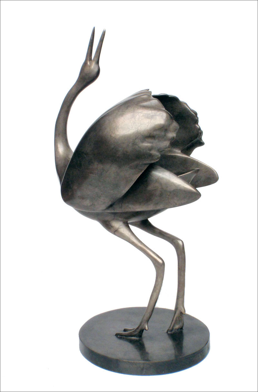 "Crane -© 2012 Kristine Taylor, Bronze, edition of 15, 11.5""H x 6""L x 5""W"
