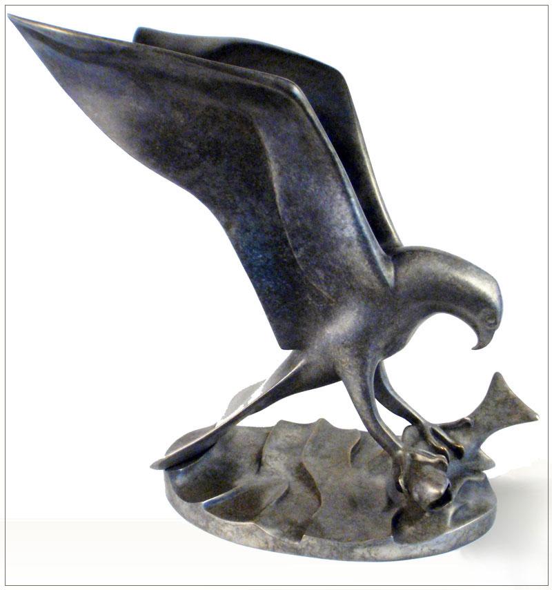 "Osprey - © 2010 Kristine Taylor, Bronze, edition of 15, 10""H x 12.5""L x 7""W"