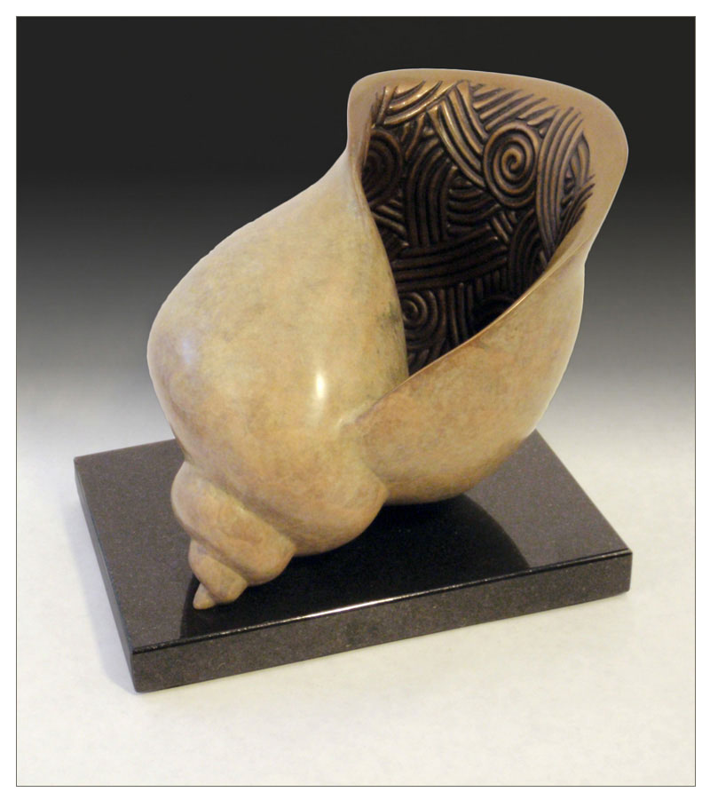 "Shell - © 2010 Kristine Taylor, Bronze, edition of 15, 6""H x 8""L x 5""W"